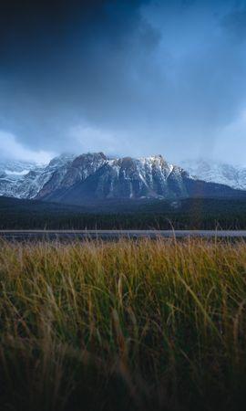 152010 télécharger le fond d'écran Nature, Neige, Herbe, Route, Montagnes - économiseurs d'écran et images gratuitement