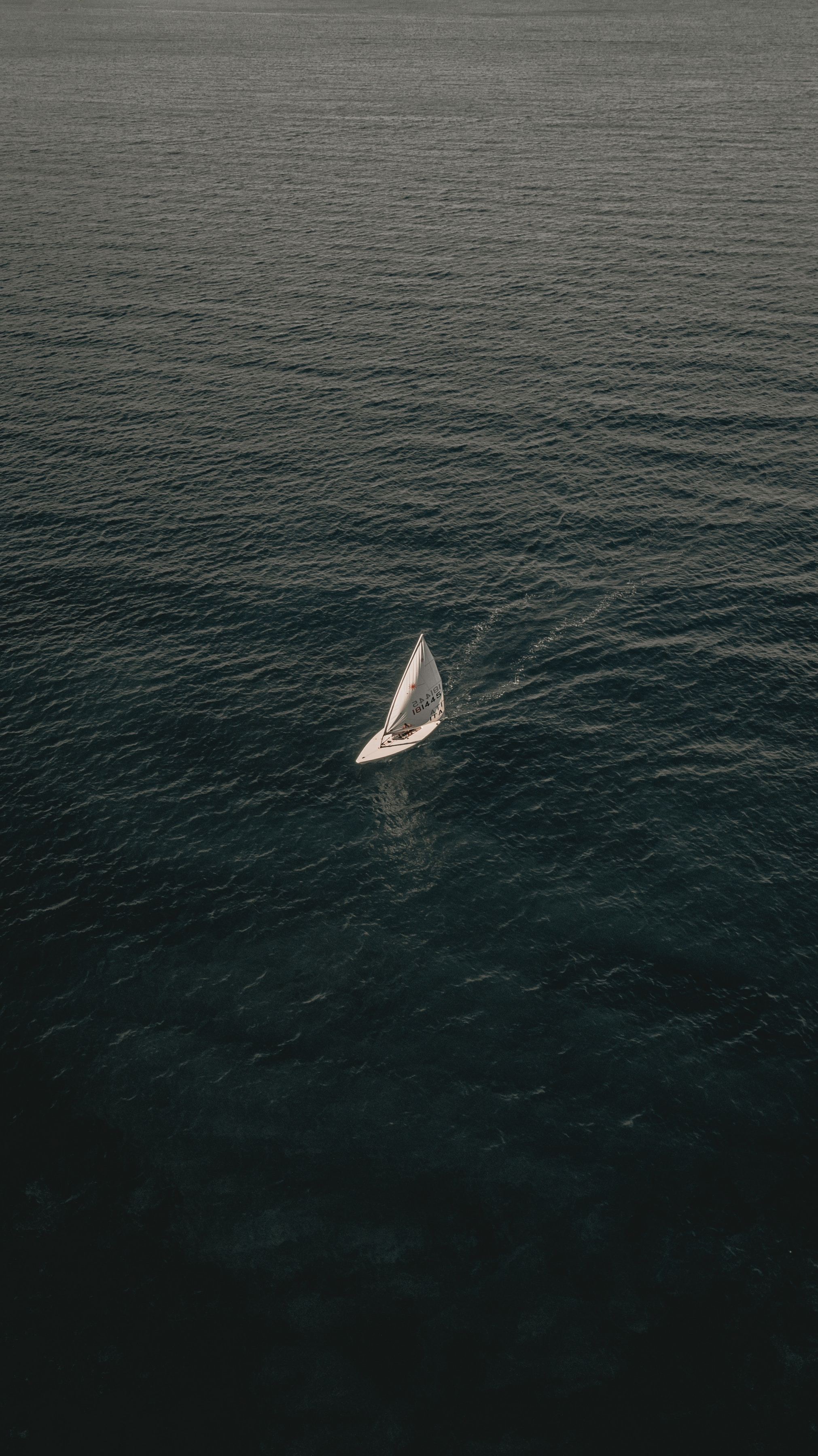 138156 Screensavers and Wallpapers Boat for phone. Download Nature, Water, Sea, View From Above, Boat, Sail pictures for free