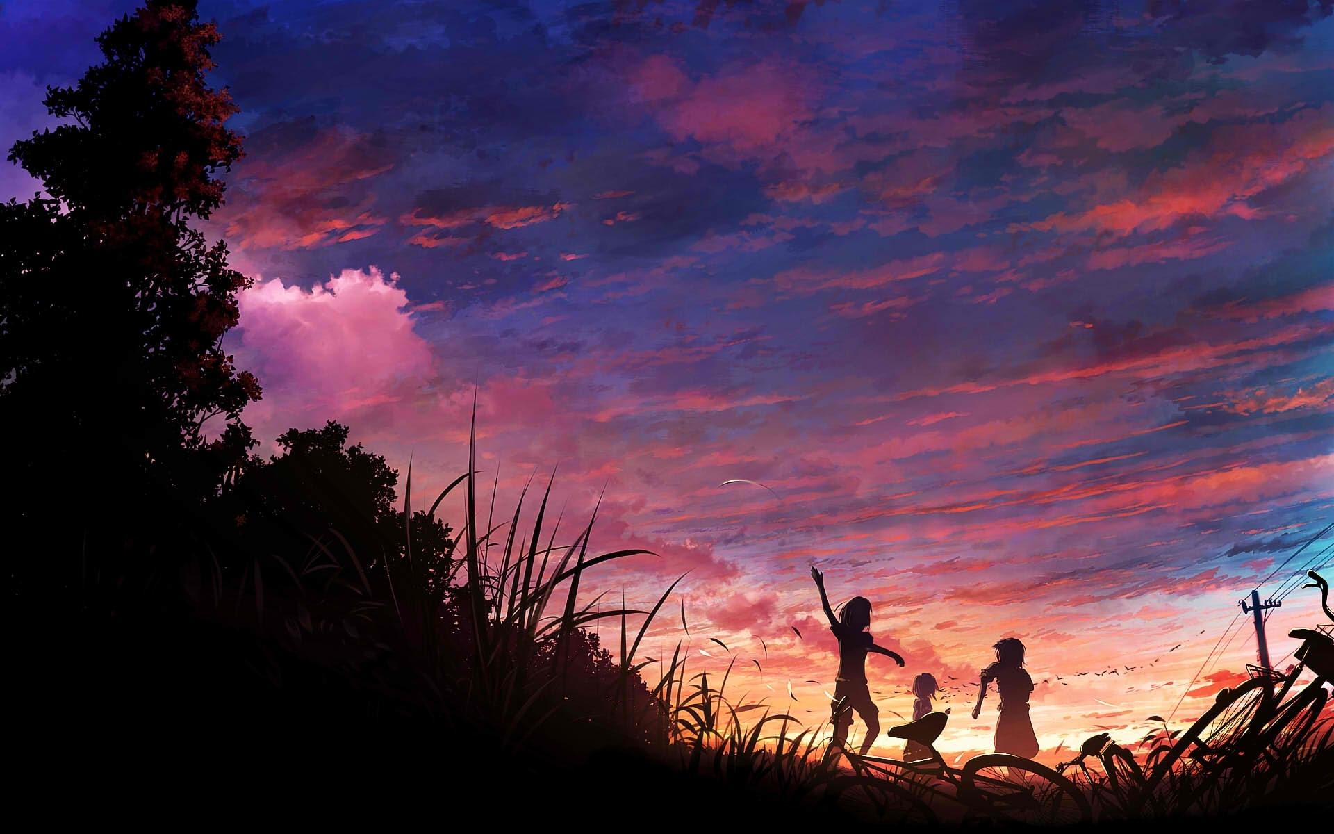 40051 Hintergrundbild herunterladen Anime, Sunset - Bildschirmschoner und Bilder kostenlos