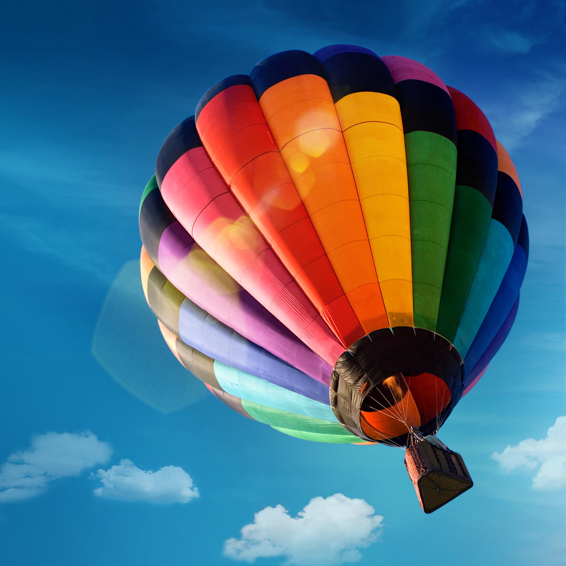 Скачать картинку Воздушные Шары, Небо, Пейзаж, Транспорт в телефон бесплатно.