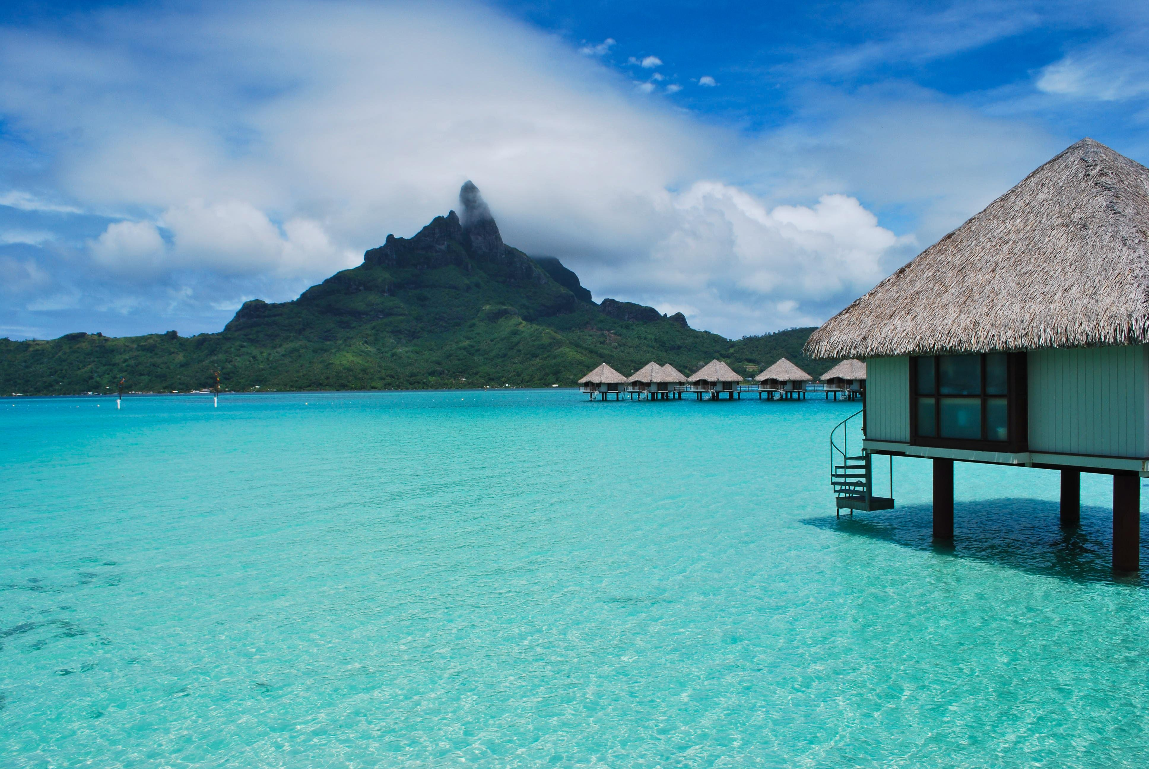 70847 Screensavers and Wallpapers Handsomely for phone. Download Nature, Sea, Summer, Tropics, Handsomely, It's Beautiful, Bungalow pictures for free