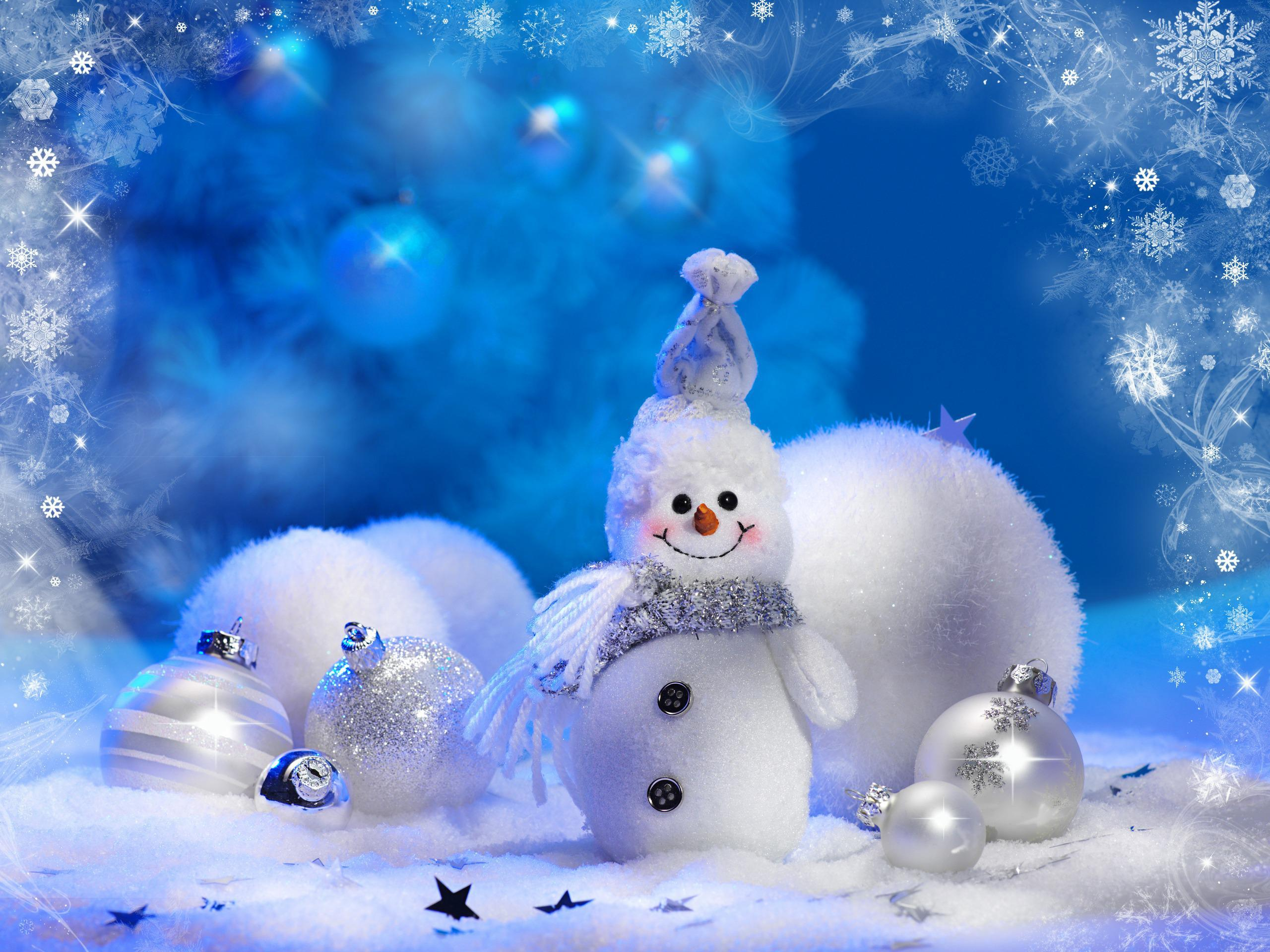 14075 скачать обои Праздники, Зима, Новый Год (New Year), Рождество (Christmas, Xmas), Снеговики - заставки и картинки бесплатно