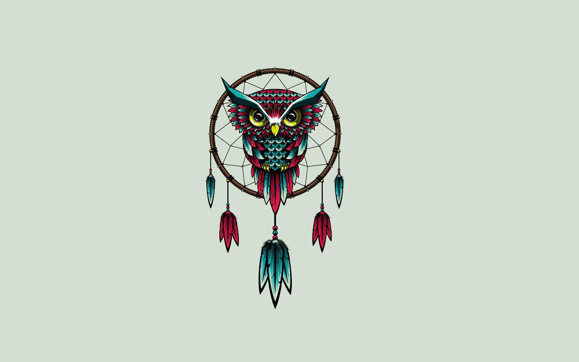 56308 Screensavers and Wallpapers Bird for phone. Download Art, Owl, Vector, Bird, Dream Catcher, Dreamcatcher pictures for free