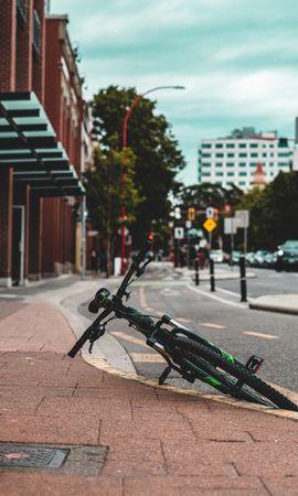 88554 descargar fondo de pantalla Miscelánea, Misceláneo, Bicicleta, Transporte, Calle, Camino, Asfalto: protectores de pantalla e imágenes gratis