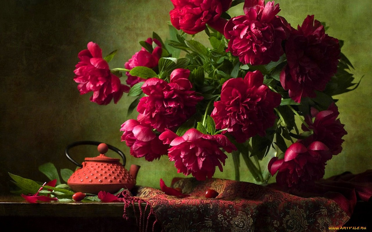 17904 скачать обои Растения, Пионы, Натюрморт, Цветы - заставки и картинки бесплатно