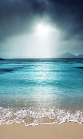 21697 скачать обои Пейзаж, Море, Облака, Пляж - заставки и картинки бесплатно