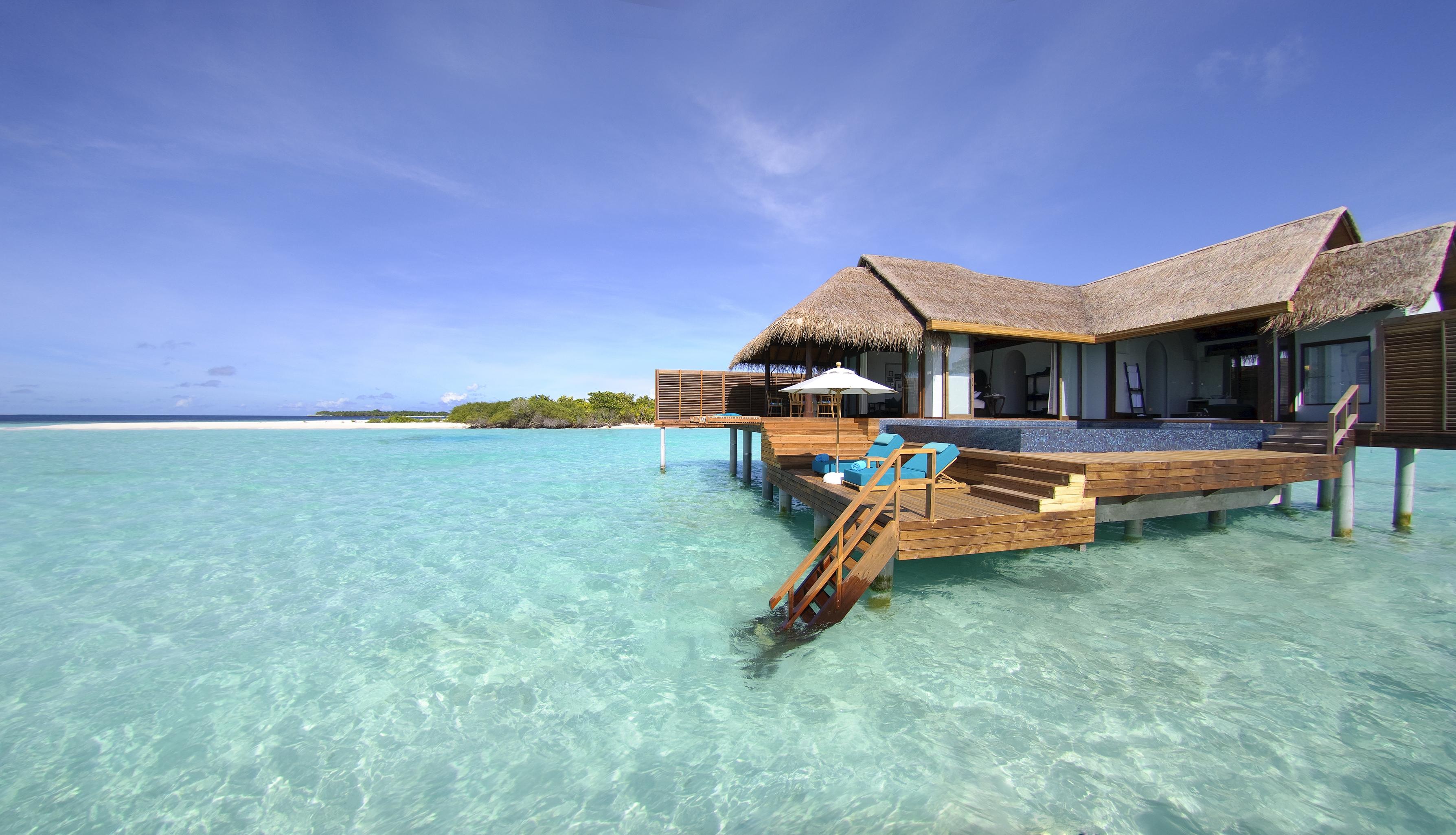 134241 Hintergrundbild 128x160 kostenlos auf deinem Handy, lade Bilder Natur, Tropen, Malediven, Bungalow 128x160 auf dein Handy herunter