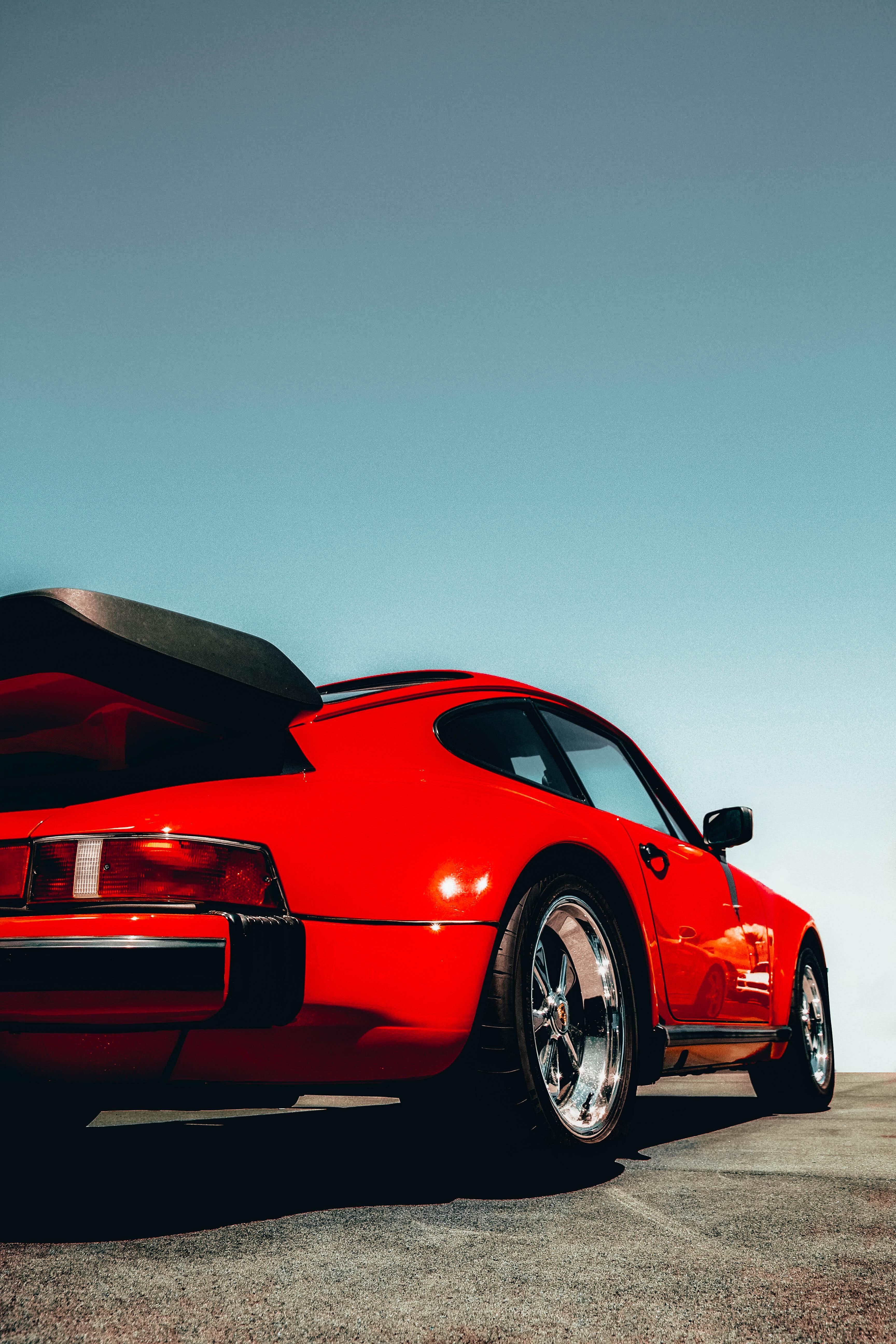117086 Заставки и Обои Порш (Porsche) на телефон. Скачать Порш (Porsche), Тачки (Cars), Дорога, Красный, Автомобиль, Вид Сзади, Porsche 911 картинки бесплатно
