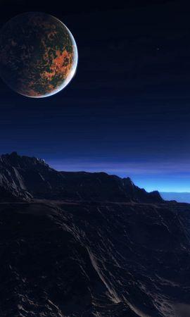 80655壁紙のダウンロード太陽系外惑星, 系外惑星, 雰囲気, 大気, 雲, 星, 衛星, ヘイズ, 靄, 岩, 山脈, 宇宙-スクリーンセーバーと写真を無料で