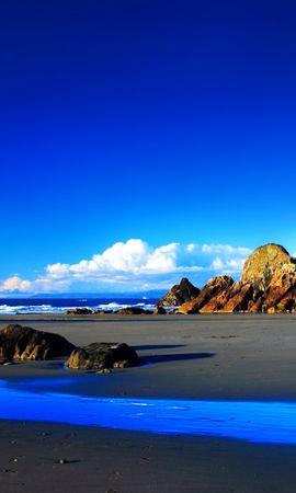 3675 завантажити шпалери Пейзаж, Камені, Небо, Гори, Пляж - заставки і картинки безкоштовно