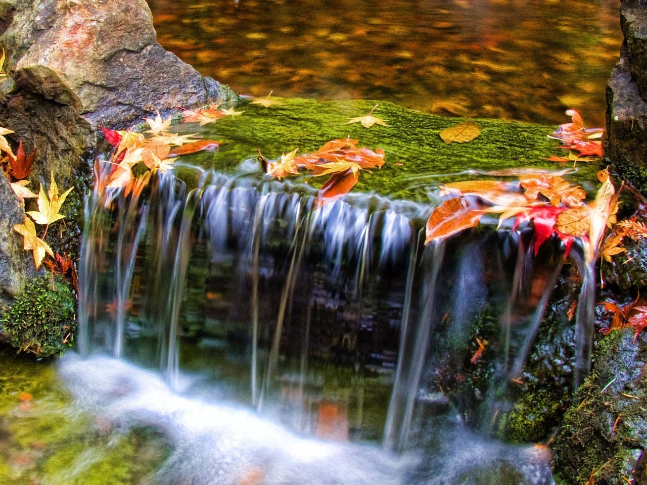 32918 download wallpaper Landscape, Rivers, Autumn screensavers and pictures for free