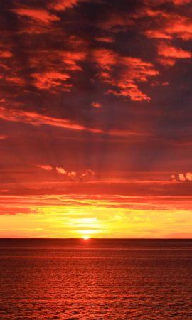 124176 Заставки и Обои Солнце на телефон. Скачать Природа, Горизонт, Рассвет, Море, Солнце картинки бесплатно