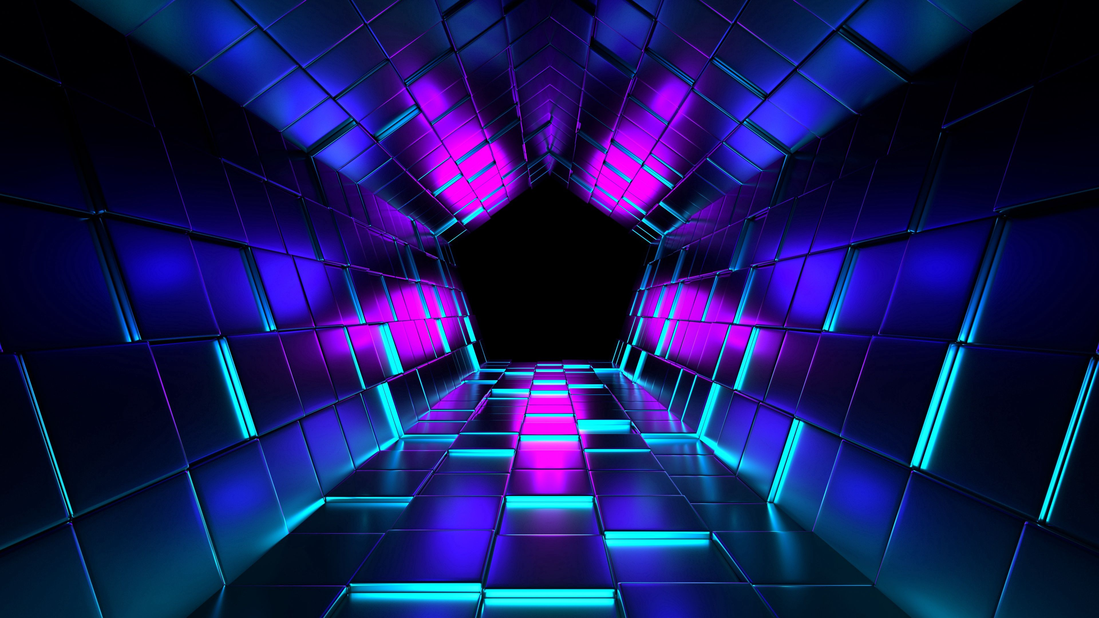 112877 Screensavers and Wallpapers Purple for phone. Download 3D, Purple, Tunnel, Cuba, Rendering pictures for free