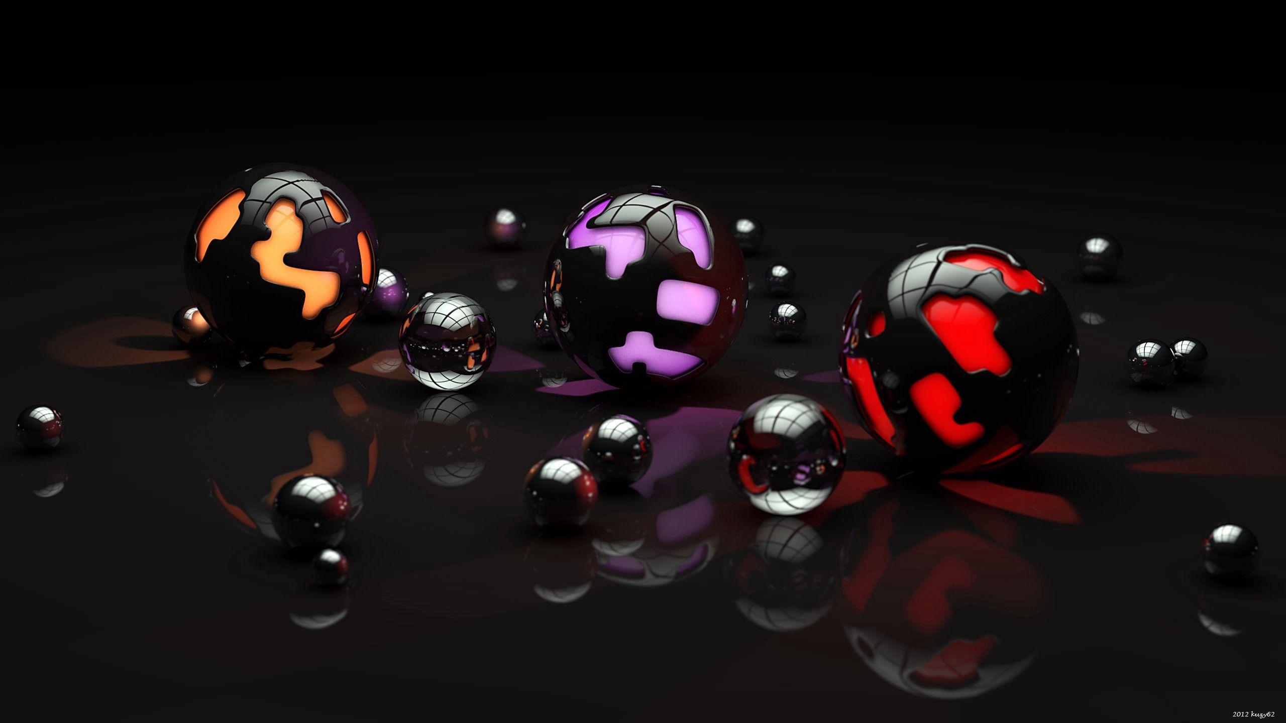 83733 économiseurs d'écran et fonds d'écran 3D sur votre téléphone. Téléchargez 3D, Sombre, Briller, Lumière, Forme, Formes, Des Balles, Balles images gratuitement