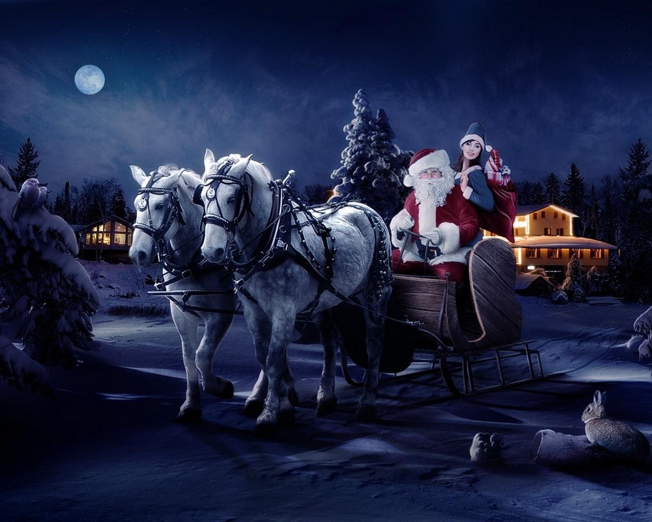 14068 скачать обои Праздники, Люди, Новый Год (New Year), Санта Клаус (Santa Claus), Рождество (Christmas, Xmas) - заставки и картинки бесплатно