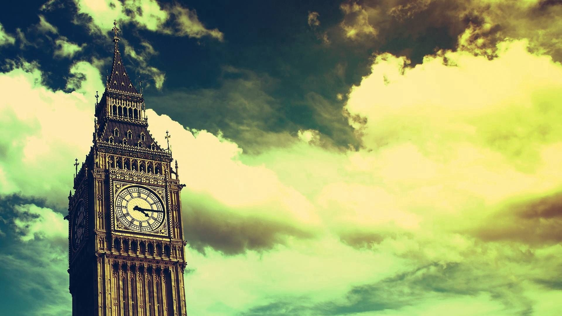 92161 download wallpaper Big Ben, London, Sky, Clouds, Cities, Clock screensavers and pictures for free