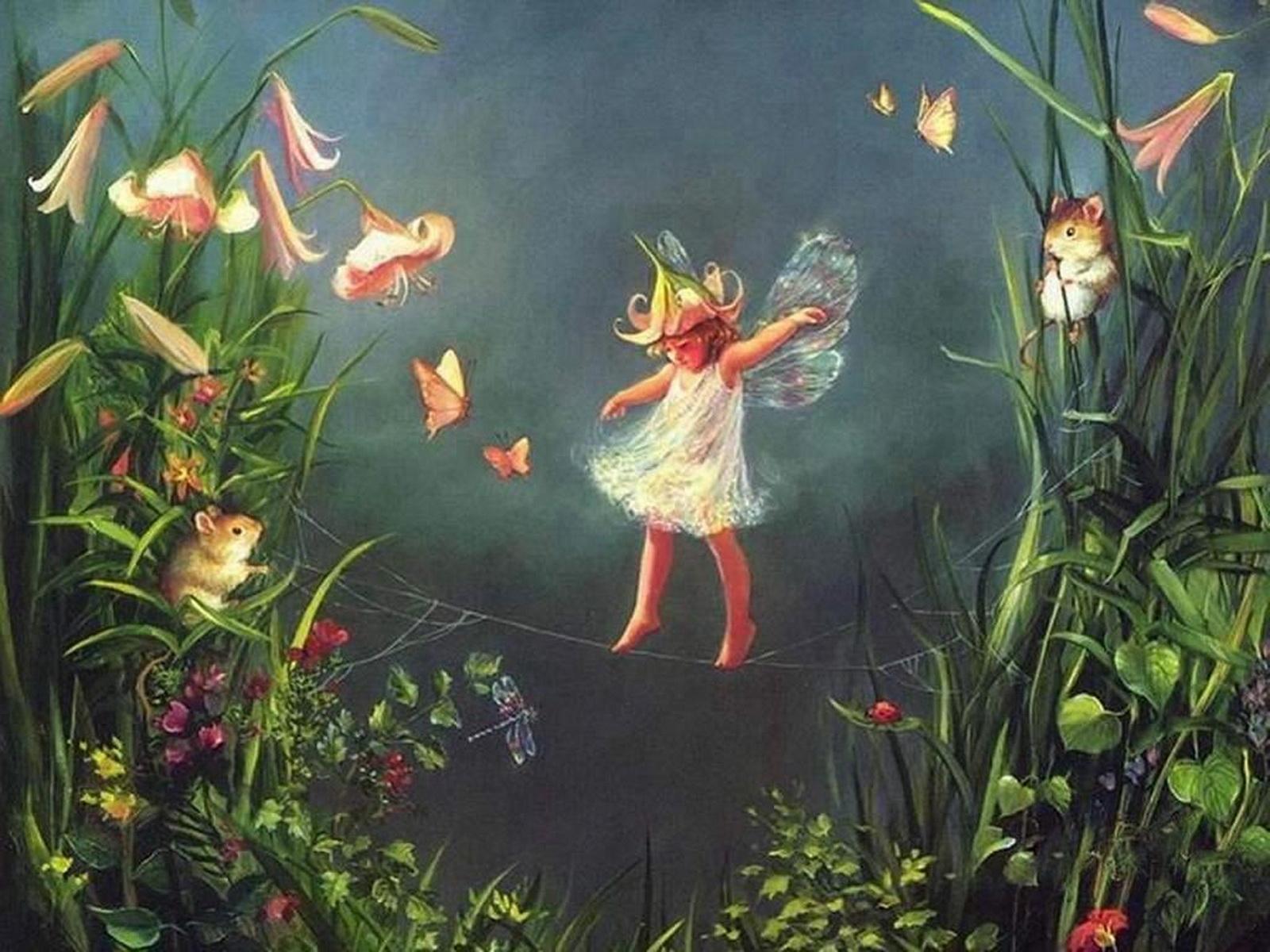 5500 скачать обои Рисунки, Ангелы, Дети - заставки и картинки бесплатно