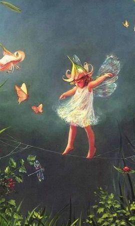 5500 скачать обои Дети, Ангелы, Рисунки - заставки и картинки бесплатно