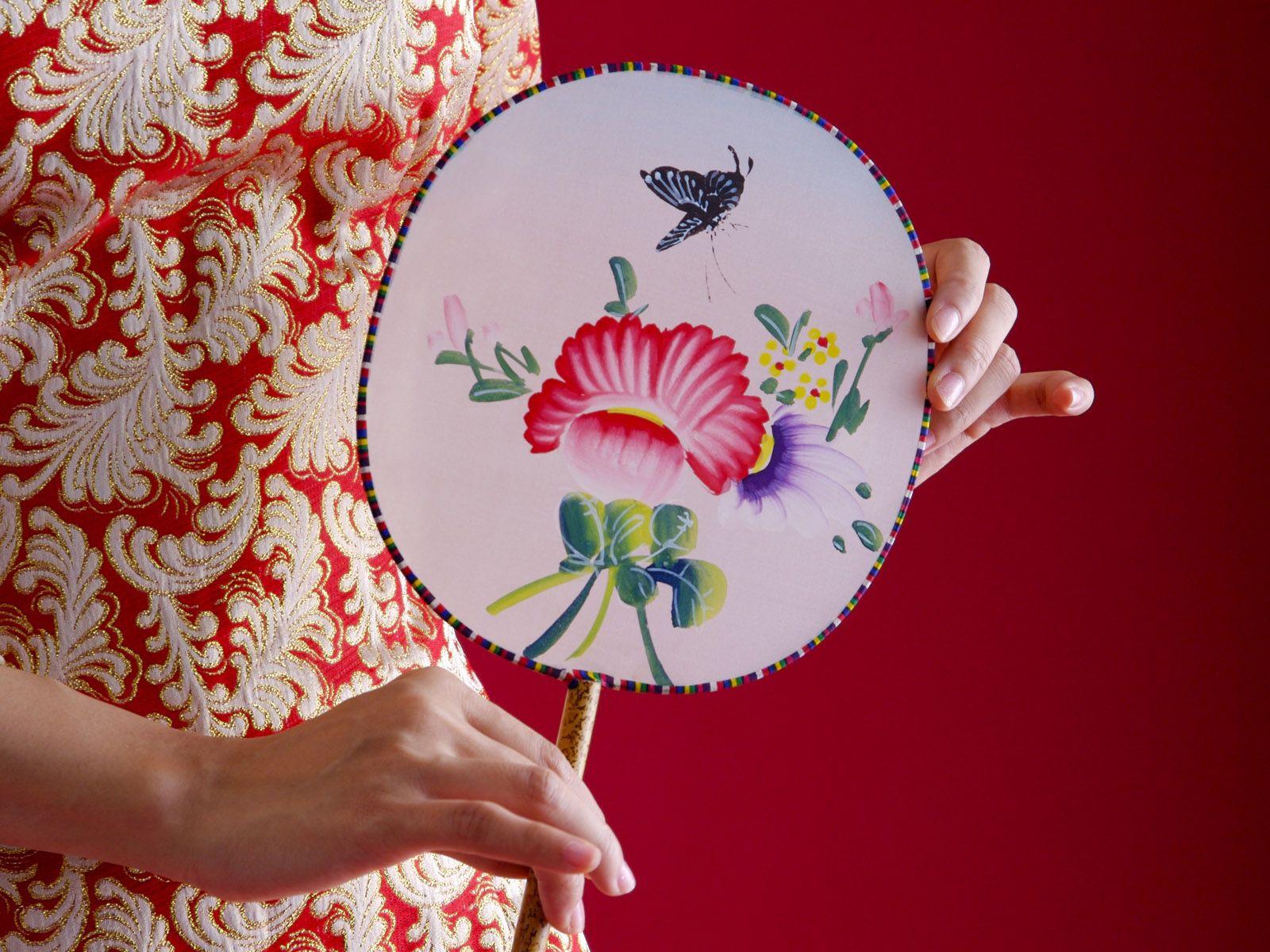 98615壁紙のダウンロードその他, 雑, 女の子, 手, 着物, ファン, 扇, 中国, パターン-スクリーンセーバーと写真を無料で