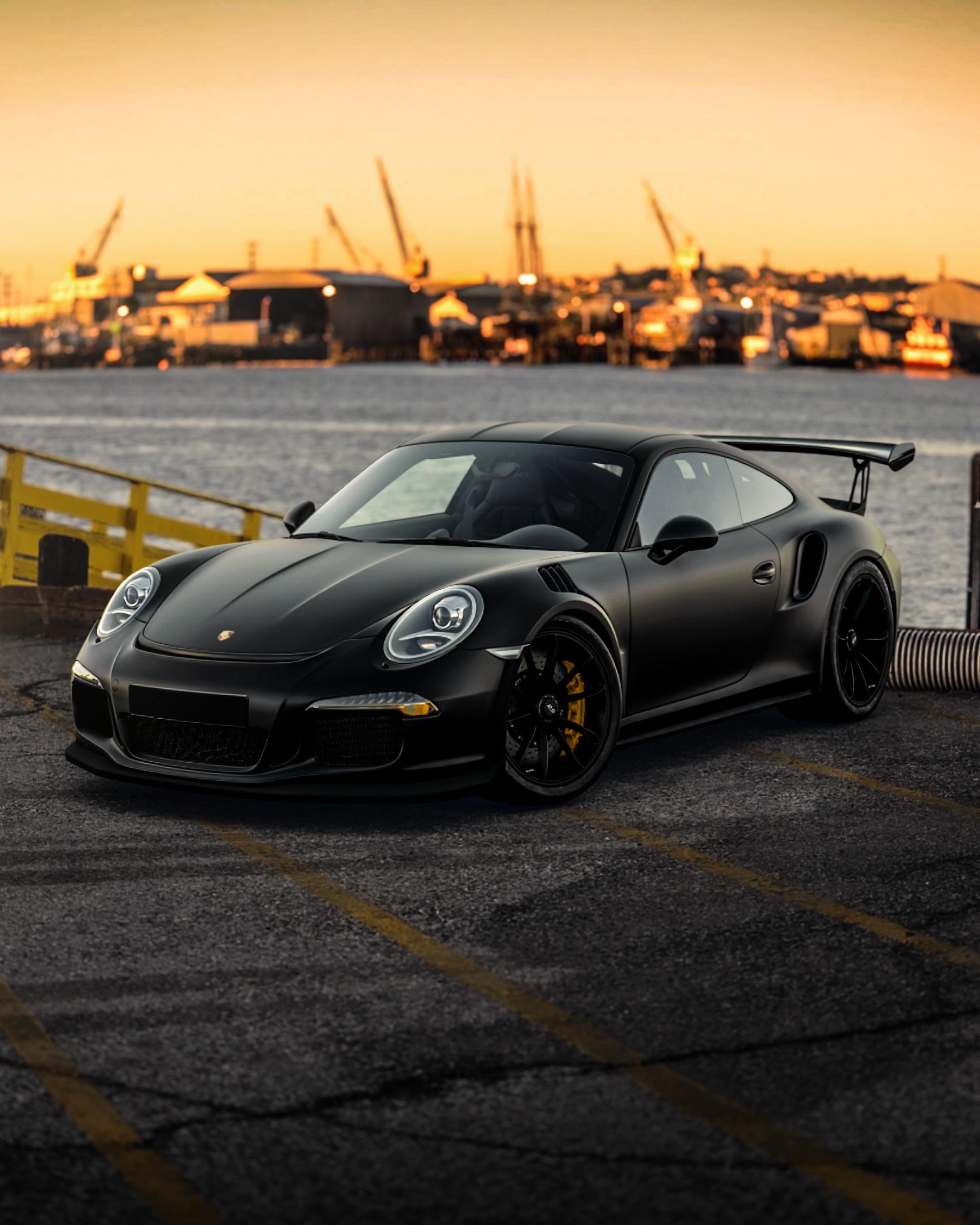 135825 Заставки и Обои Порш (Porsche) на телефон. Скачать Порш (Porsche), Porsche 911, Тачки (Cars), Черный, Машина, Спорткар, Вид Сбоку картинки бесплатно
