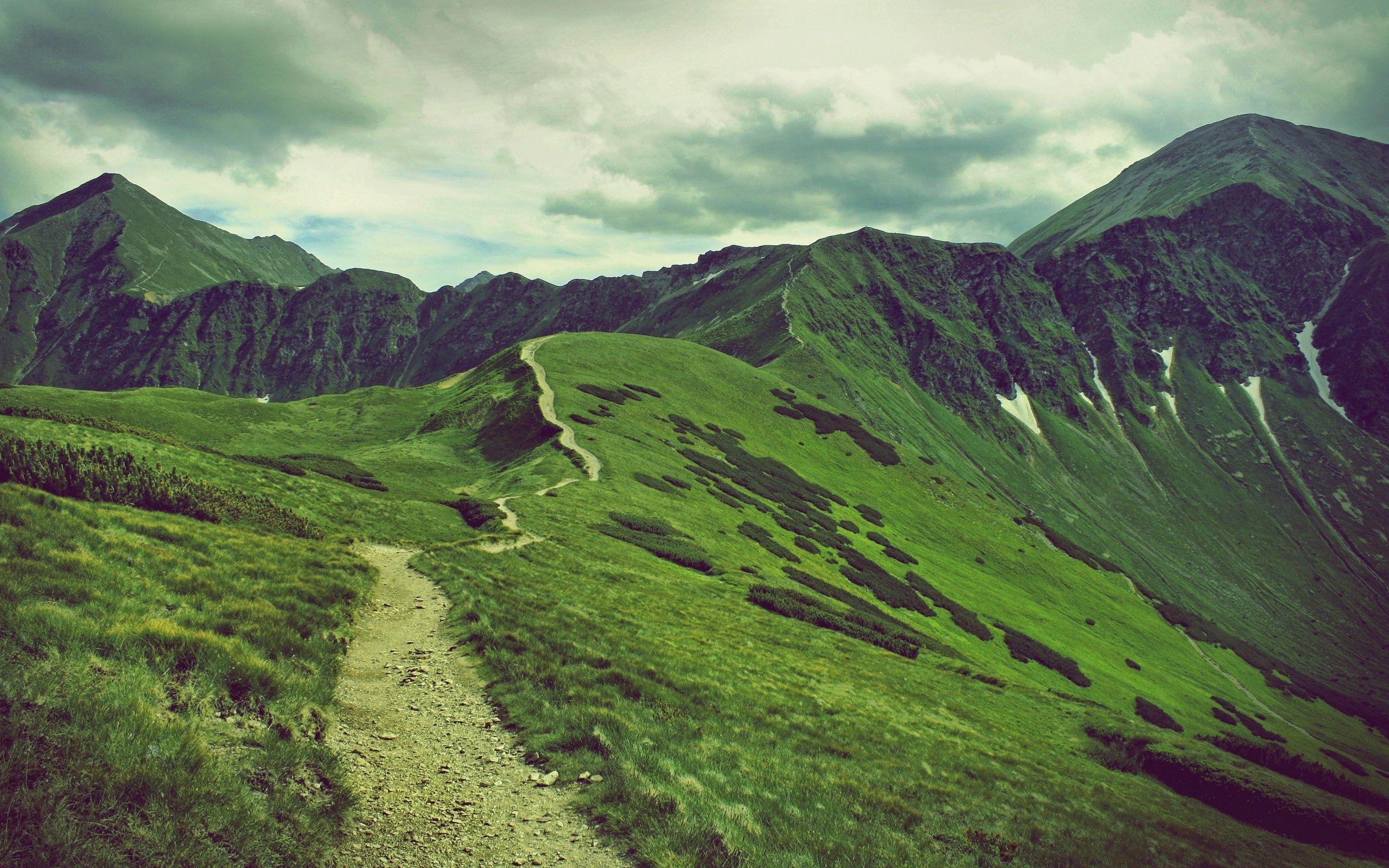 152235 Hintergrundbild herunterladen Mountains, Natur, Grass, Sky, Scheitel, Nach Oben - Bildschirmschoner und Bilder kostenlos