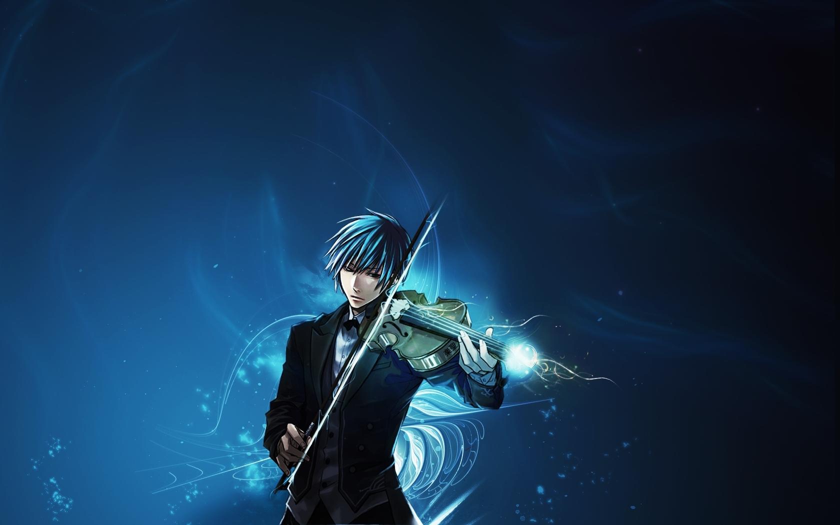Descarga gratuita de fondo de pantalla para móvil de Música, Anime, Hombres, Violines.