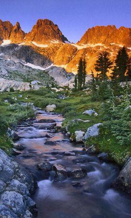 34505 скачать обои Пейзаж, Река, Горы - заставки и картинки бесплатно