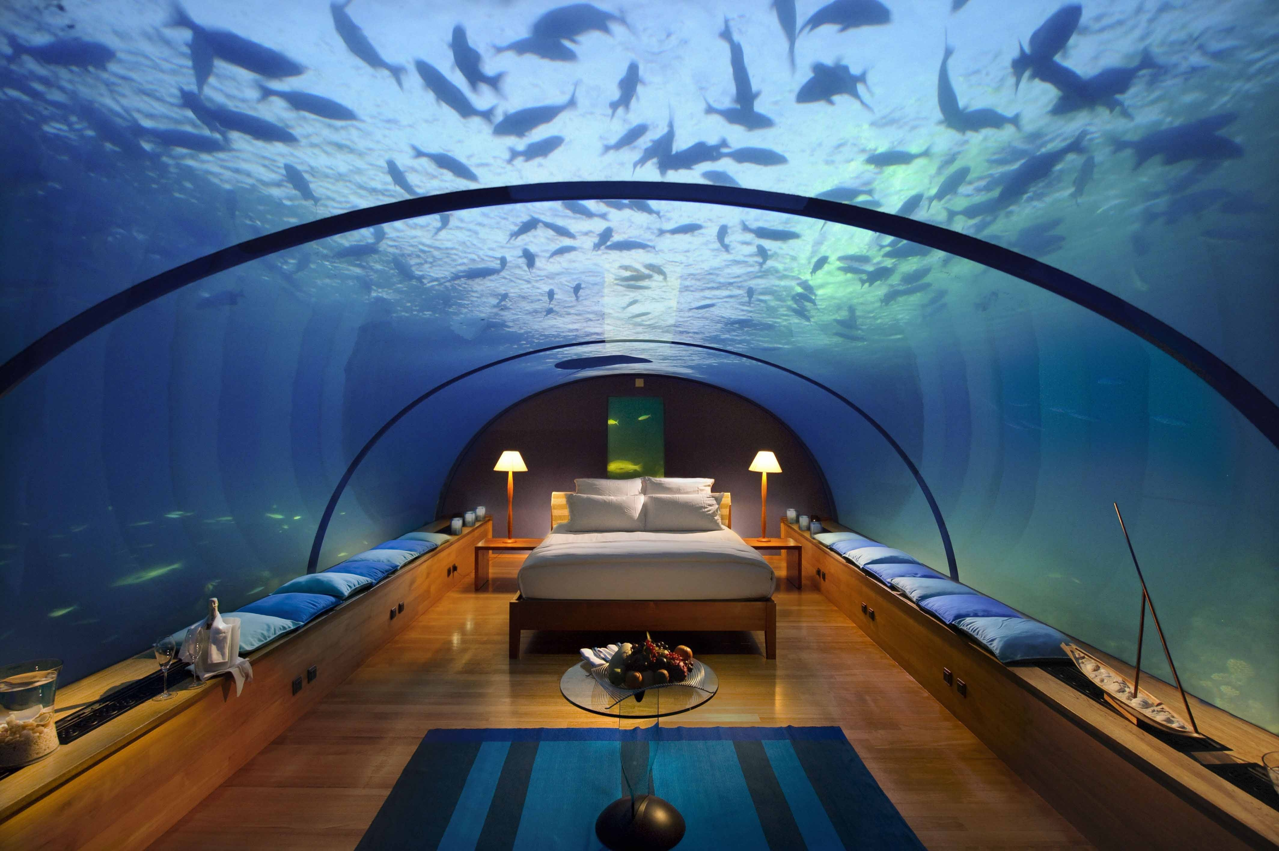 74415 download wallpaper Miscellanea, Miscellaneous, Maldives, Tropics, Underwater Hotel screensavers and pictures for free