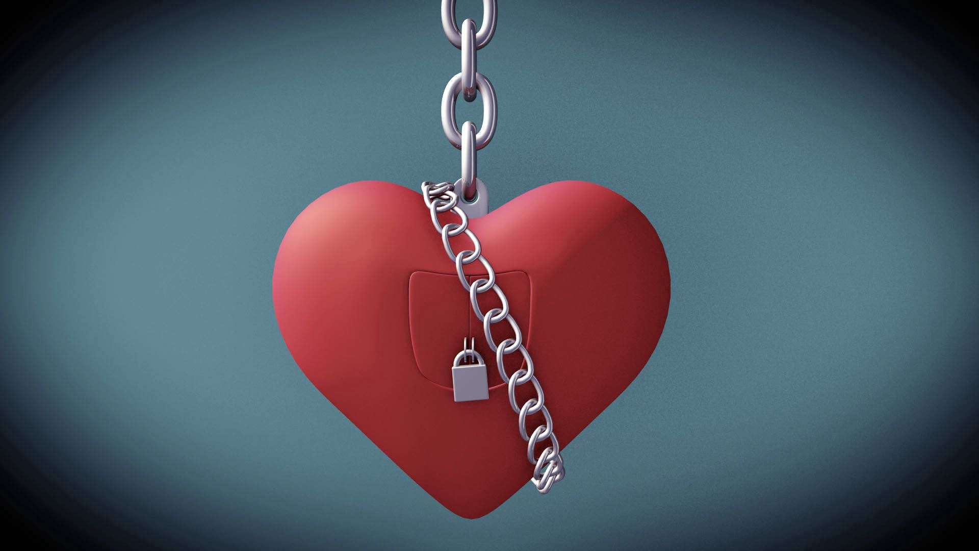 134608 download wallpaper Holidays, Valentine's Day, St. Valentine's Day, Heart, Love, Lock, Chain screensavers and pictures for free