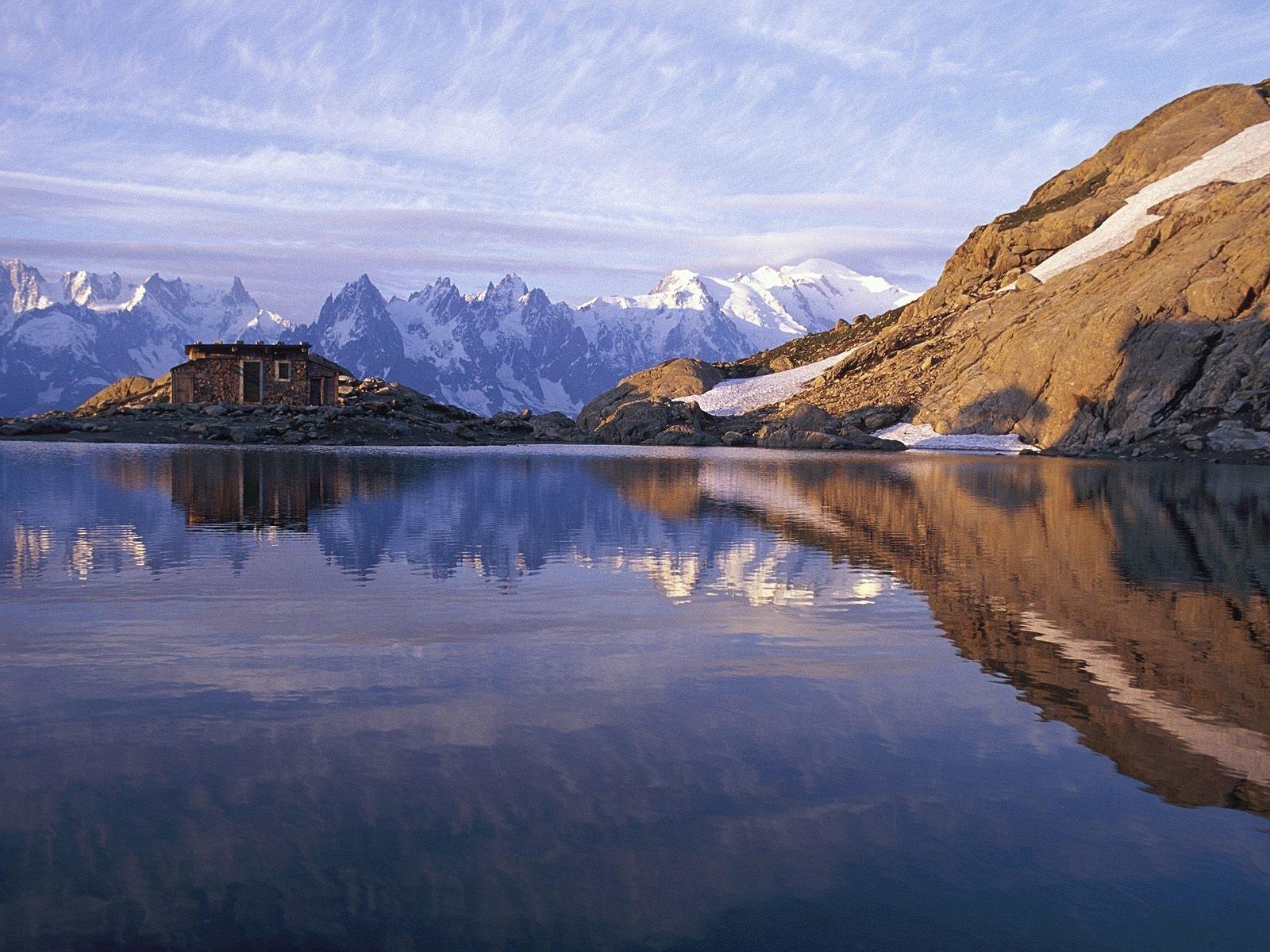 7325 скачать обои Пейзаж, Природа, Горы, Снег, Озера - заставки и картинки бесплатно