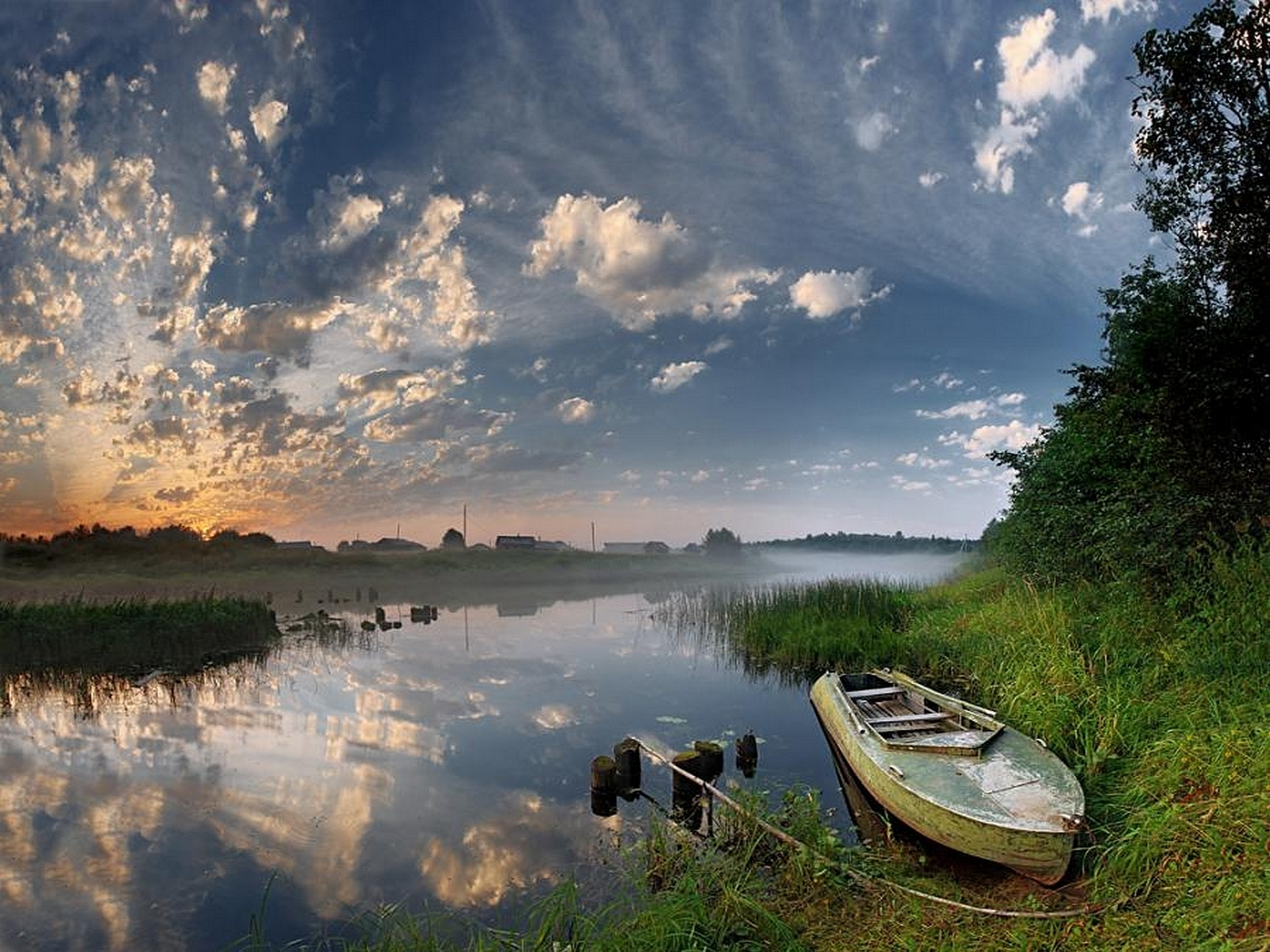 7212 скачать обои Пейзаж, Река, Небо, Лодки - заставки и картинки бесплатно