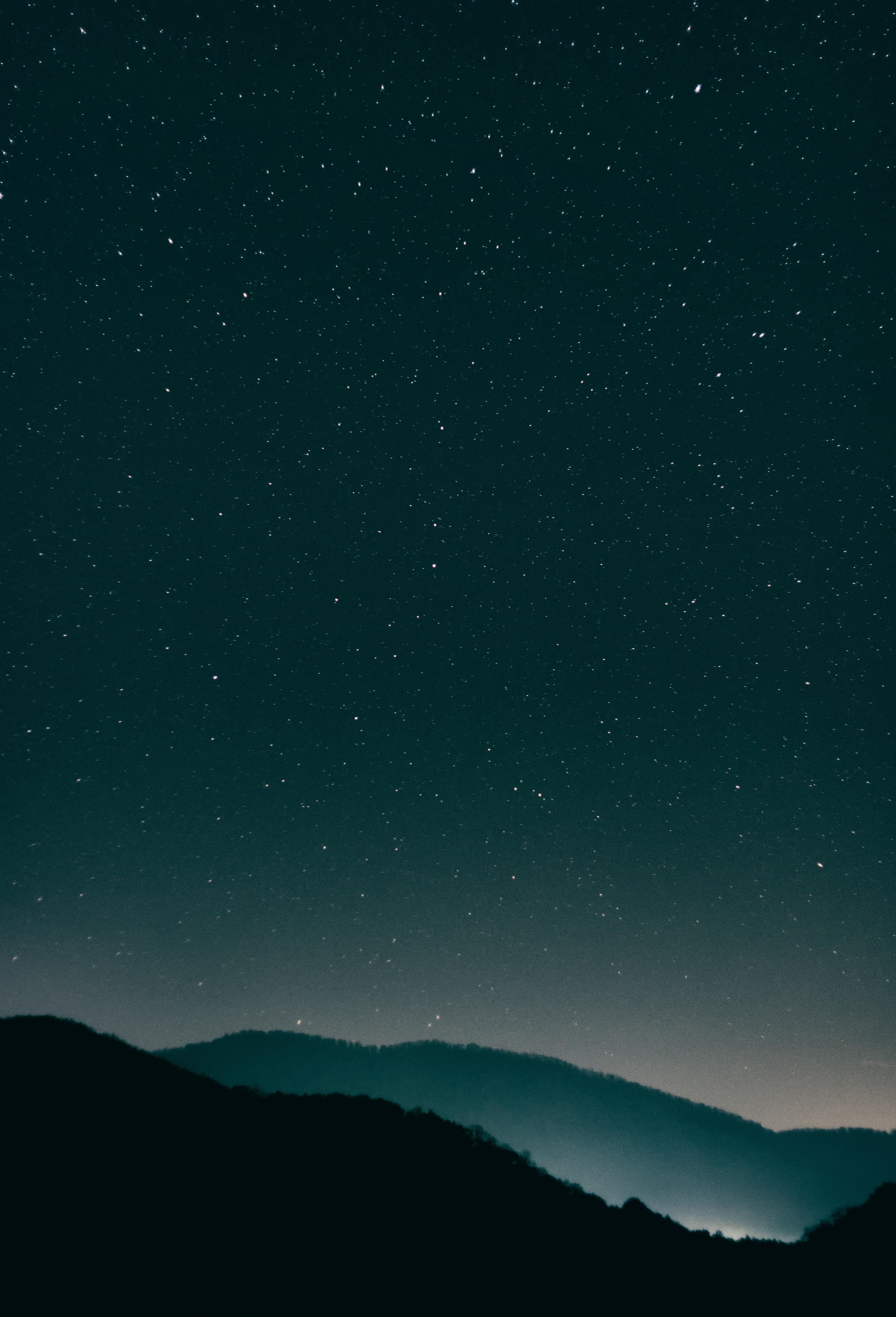 141433 скачать обои Темные, Звездное Небо, Ночь, Сияние, Горы - заставки и картинки бесплатно