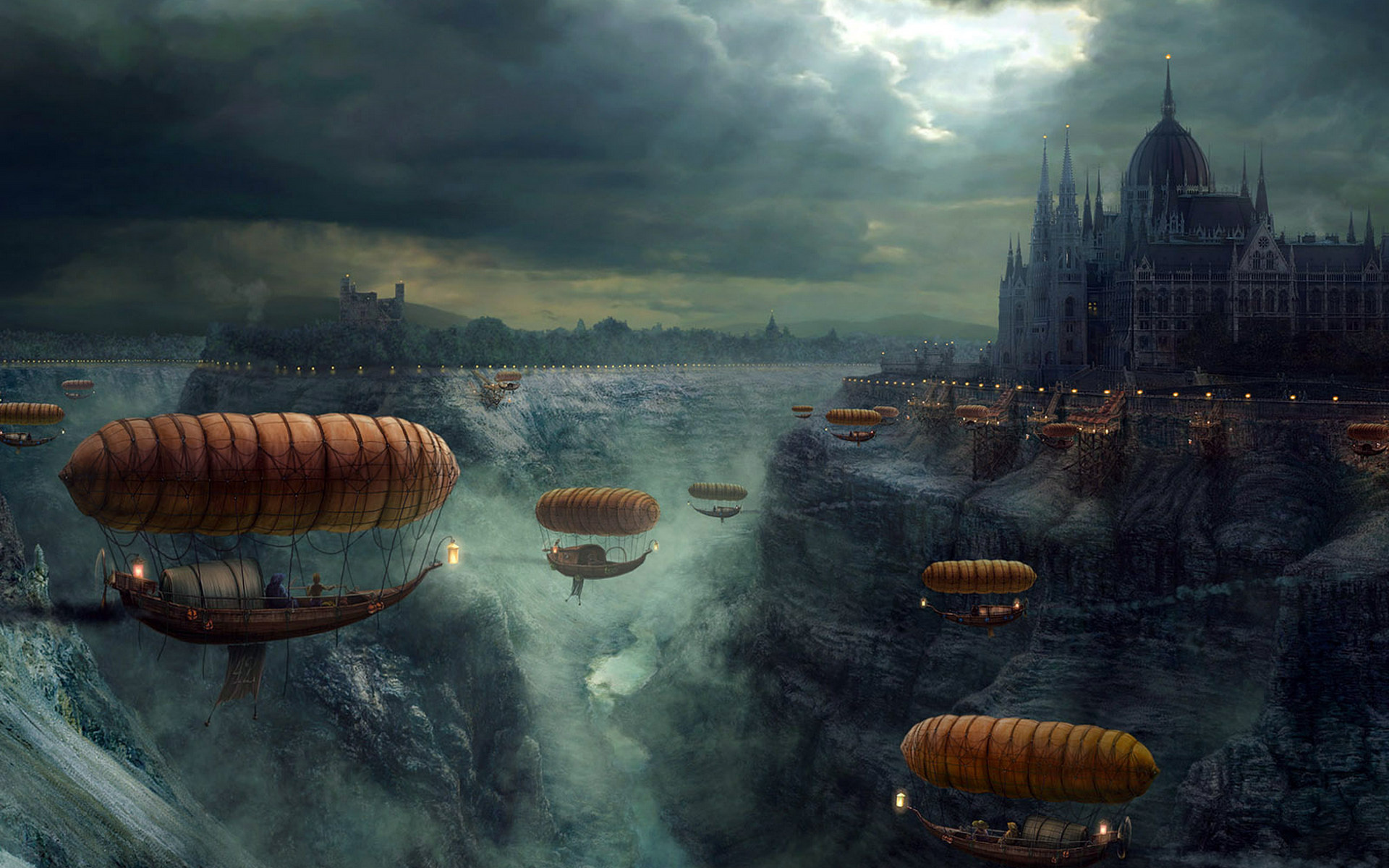 49614 download wallpaper Landscape, Fantasy, Pictures screensavers and pictures for free