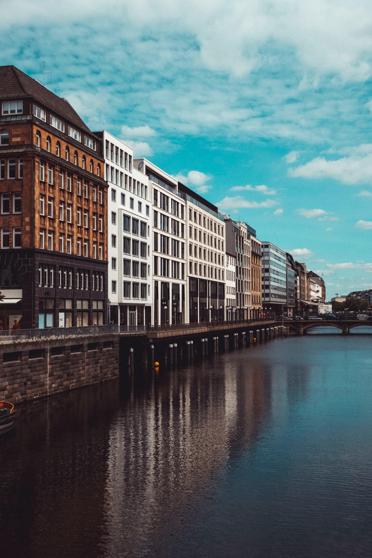 83448壁紙のダウンロード建物, ブリッジ, 橋, 川, 市, 都市, アーキテクチャ-スクリーンセーバーと写真を無料で