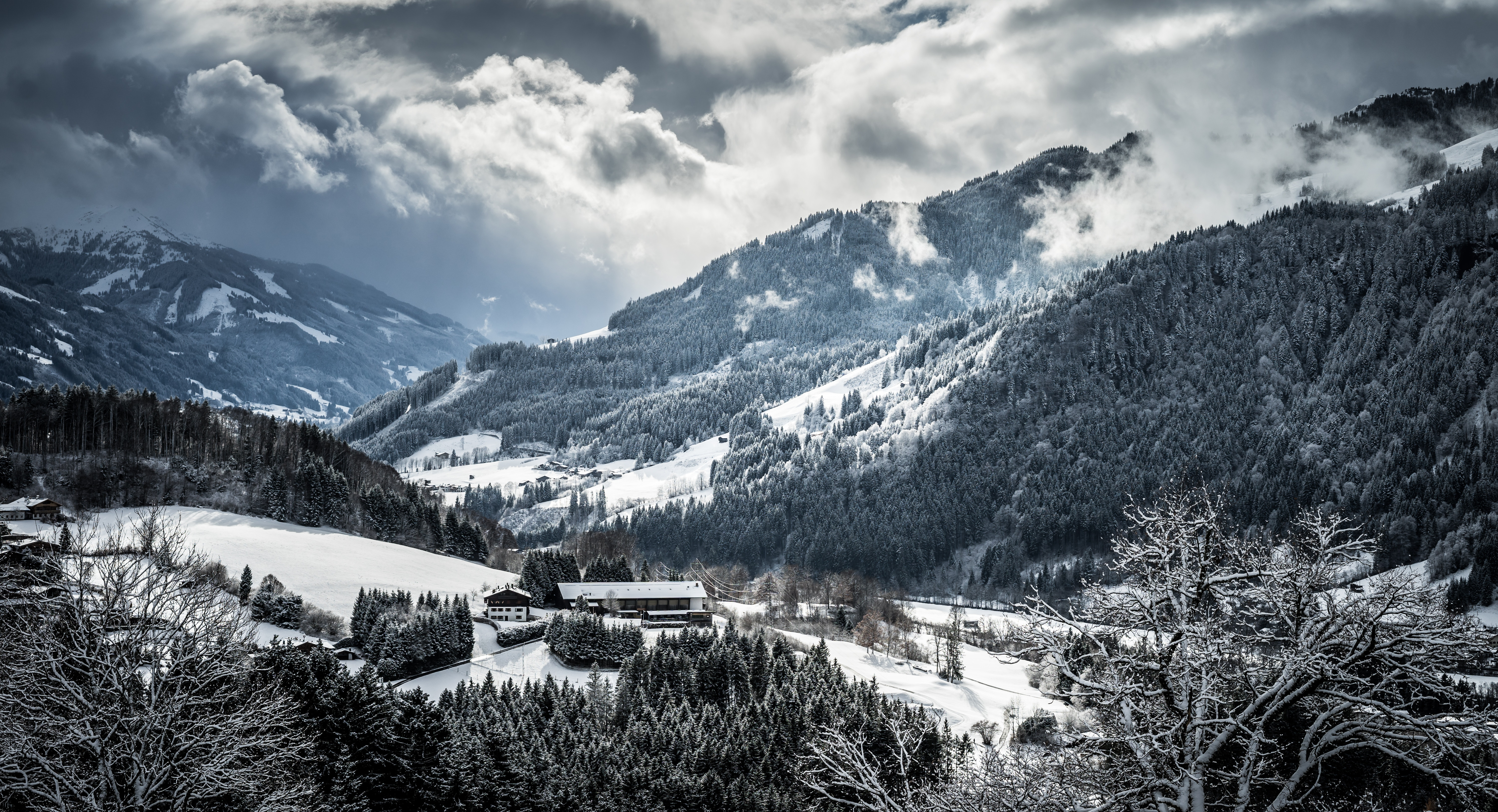 94425 download wallpaper Nature, Winter, Snow, Mountains screensavers and pictures for free