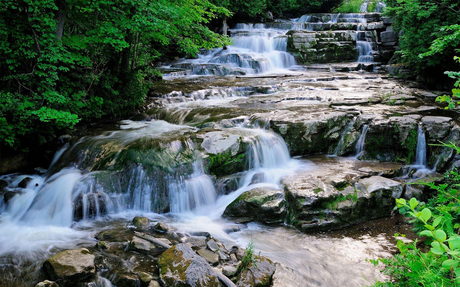 96907 télécharger le fond d'écran Cascades, Paysage, Nature, Rivières, Rouleaux, Failles - économiseurs d'écran et images gratuitement