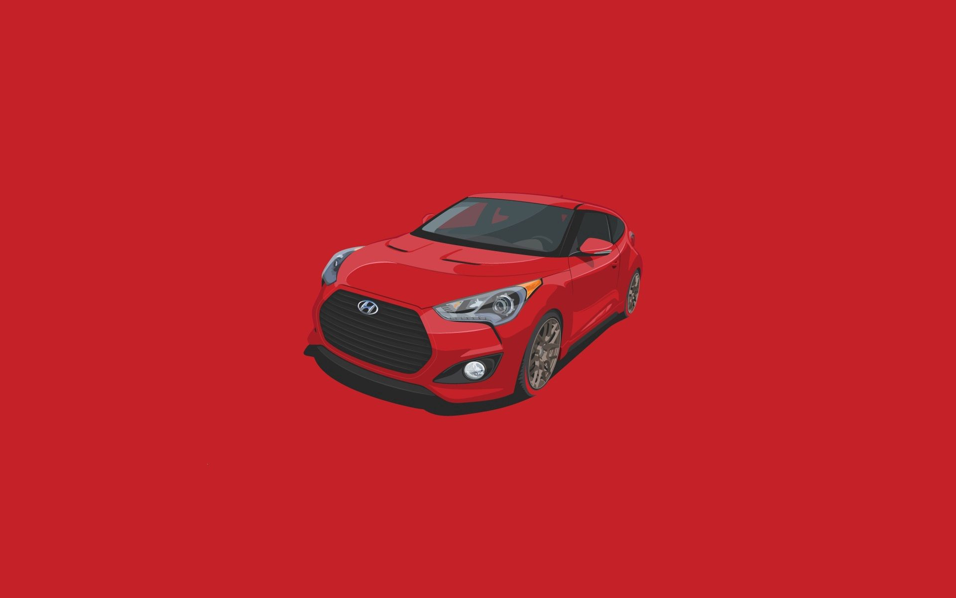 113458 download wallpaper Hyundai, Vector, Minimalism, Veloster screensavers and pictures for free