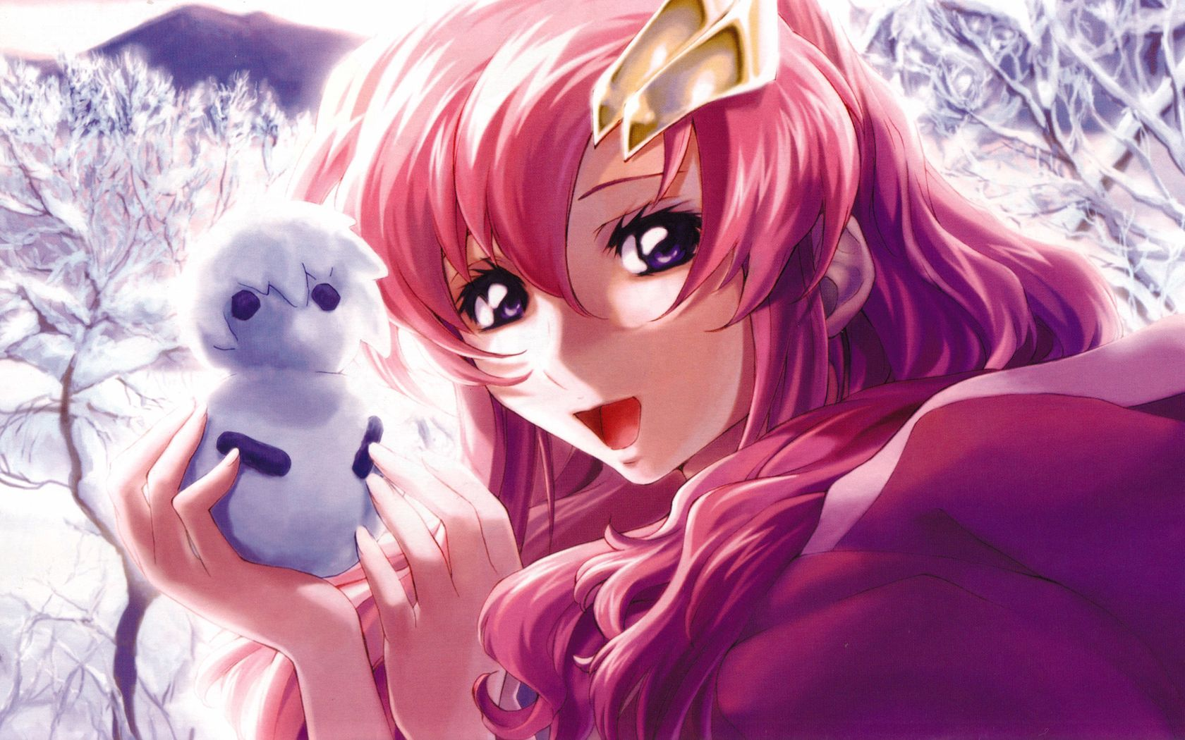 87097 download wallpaper Anime, Girl, Pretty, Smile, Being, Creature screensavers and pictures for free