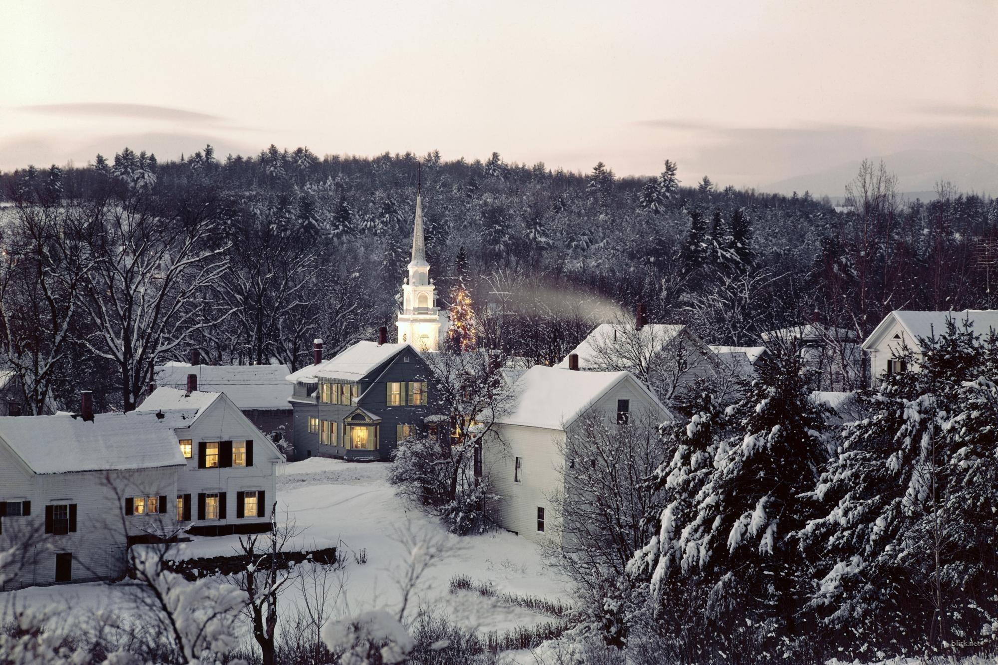 10859 скачать обои Пейзаж, Зима, Дома - заставки и картинки бесплатно