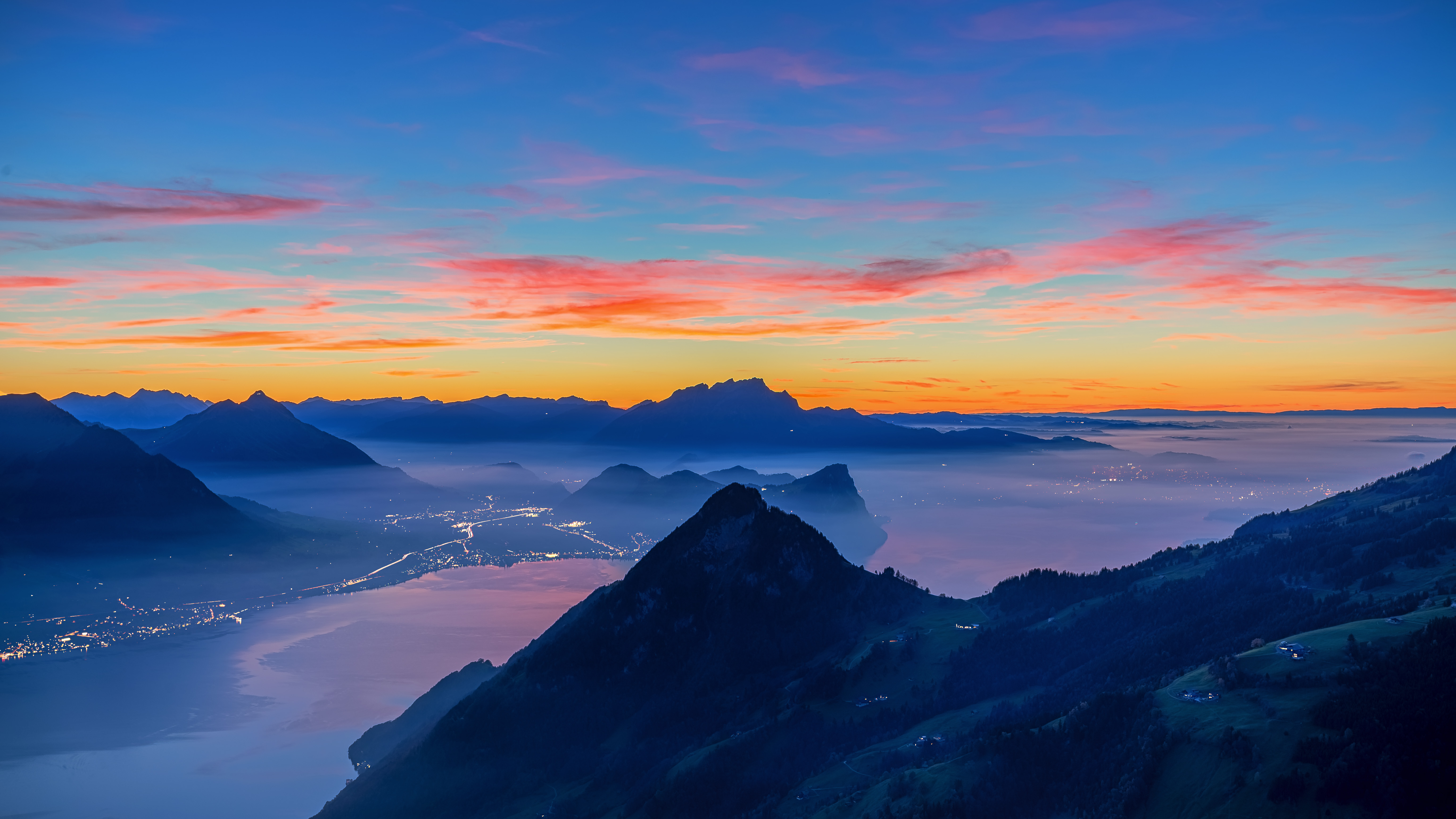 123341 Screensavers and Wallpapers Dahl for phone. Download Nature, Sunset, Mountains, Vertex, Tops, Dahl, Distance pictures for free