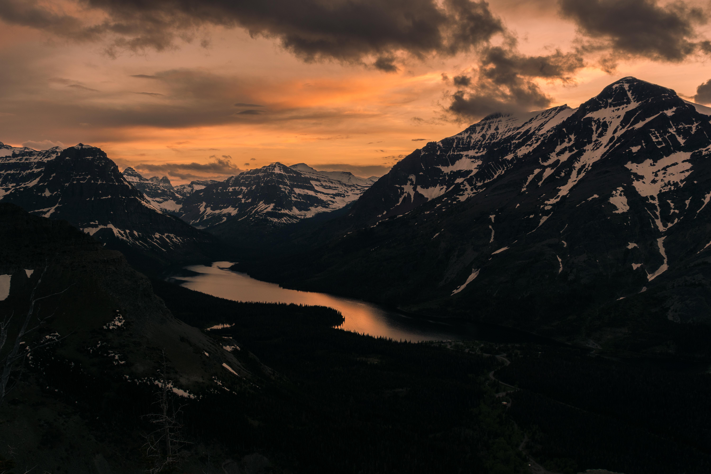 65983 fond d'écran 720x1520 sur votre téléphone gratuitement, téléchargez des images Nature, Coucher De Soleil, Montagnes, Nuages, Sommet, Retour Au Début, Lac 720x1520 sur votre mobile