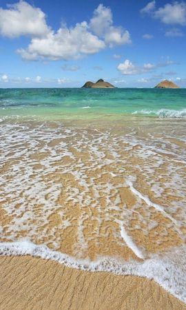 19983 скачать обои Пейзаж, Море, Облака, Волны, Пляж, Песок - заставки и картинки бесплатно