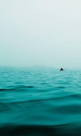 109988壁紙のダウンロードミニマリズム, ボート, 舟, 海, 孤独, 寂しさ, プライバシー, 隠遁-スクリーンセーバーと写真を無料で