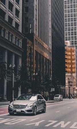 65130 télécharger le fond d'écran Voitures, Mercedes, Voiture, Ville, Chicago, Etats-Unis, États-Unis, L'architecture - économiseurs d'écran et images gratuitement