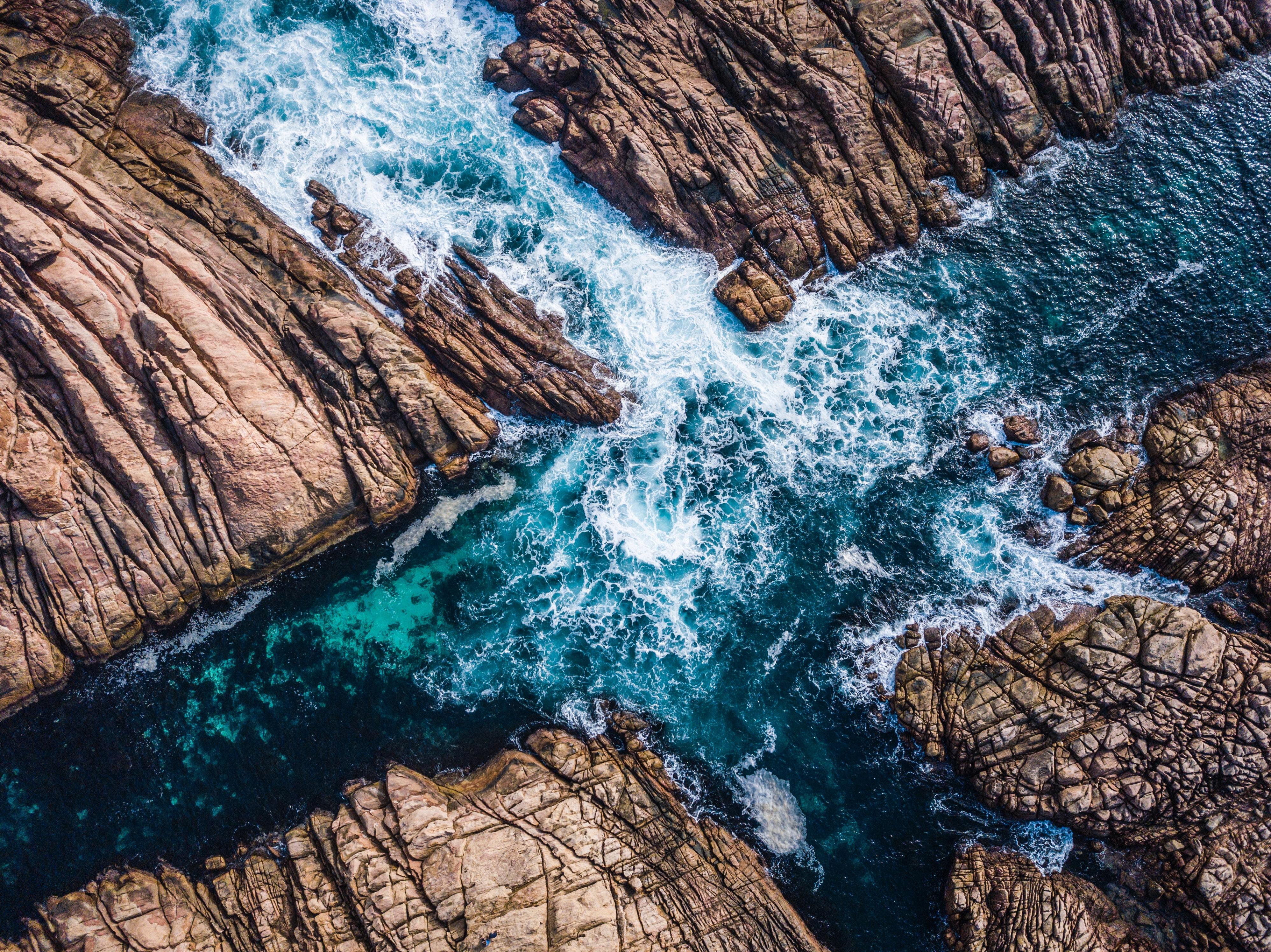 137649 Заставки и Обои Вода на телефон. Скачать Вода, Природа, Скалы, Прибой, Австралия, Канал картинки бесплатно