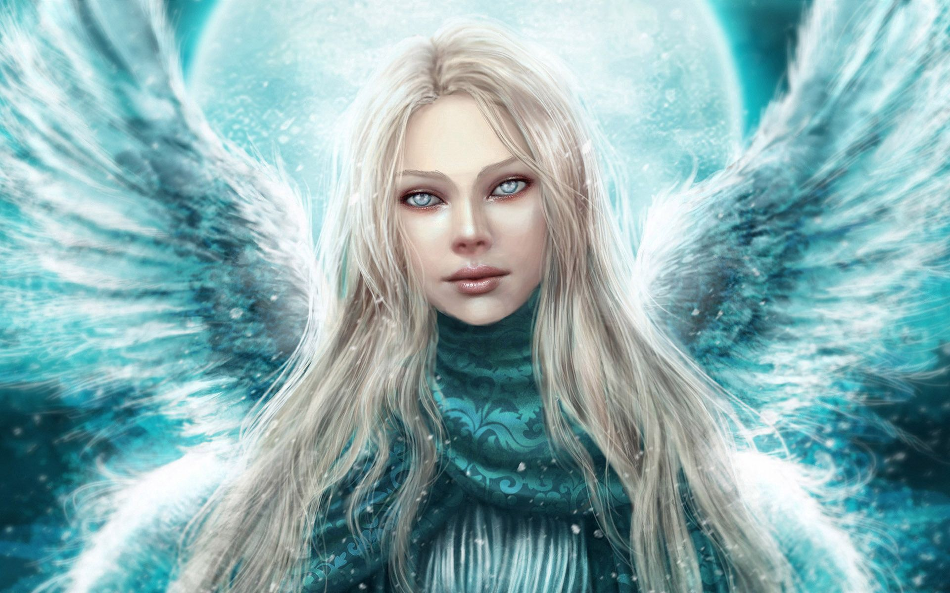 58389 download wallpaper Fantasy, Angel, Girl, Wings, Eyes, Pretty screensavers and pictures for free