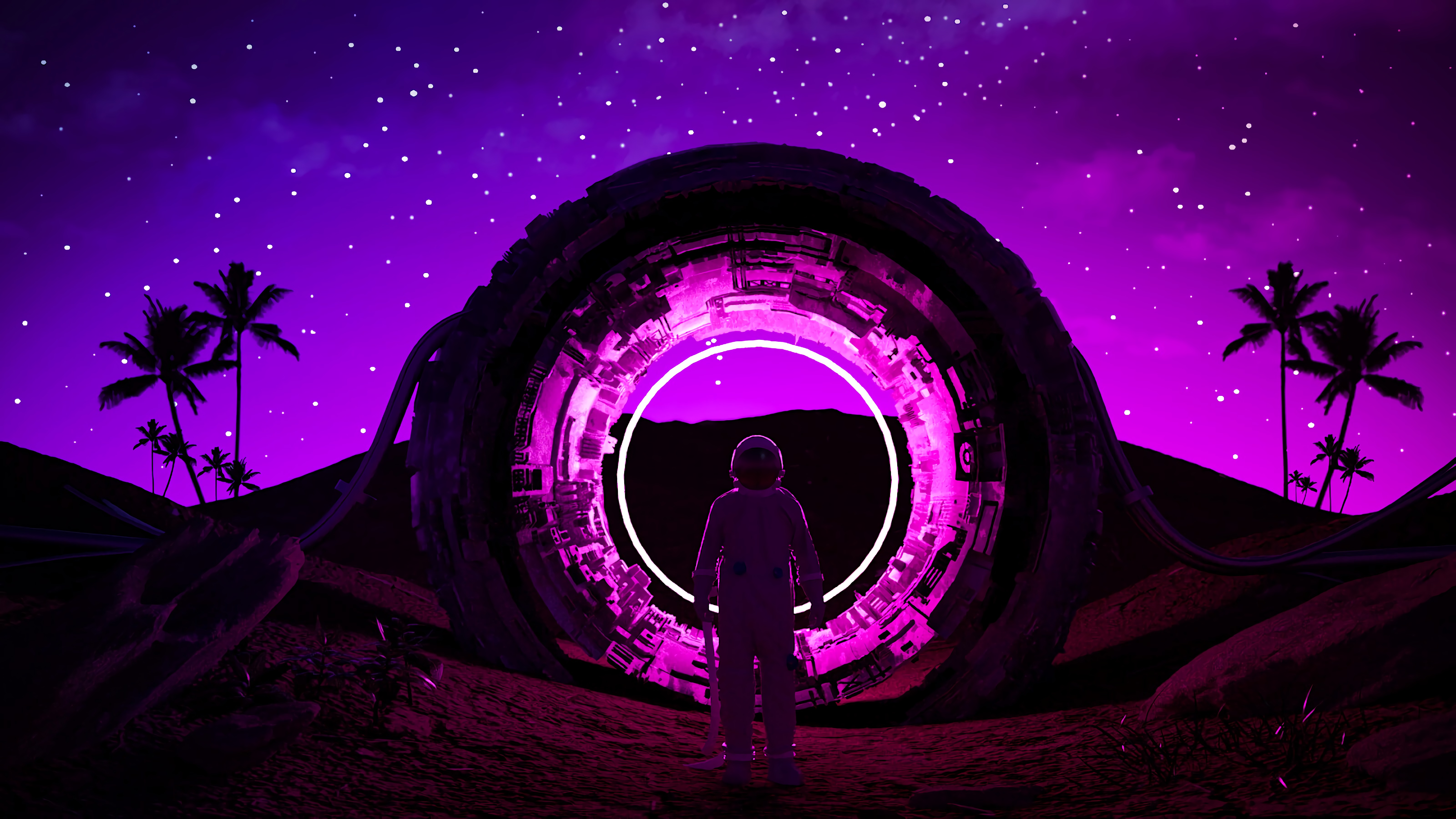 67406 Screensavers and Wallpapers Glow for phone. Download Dark, Neon, Ring, Glow, Cosmonaut pictures for free