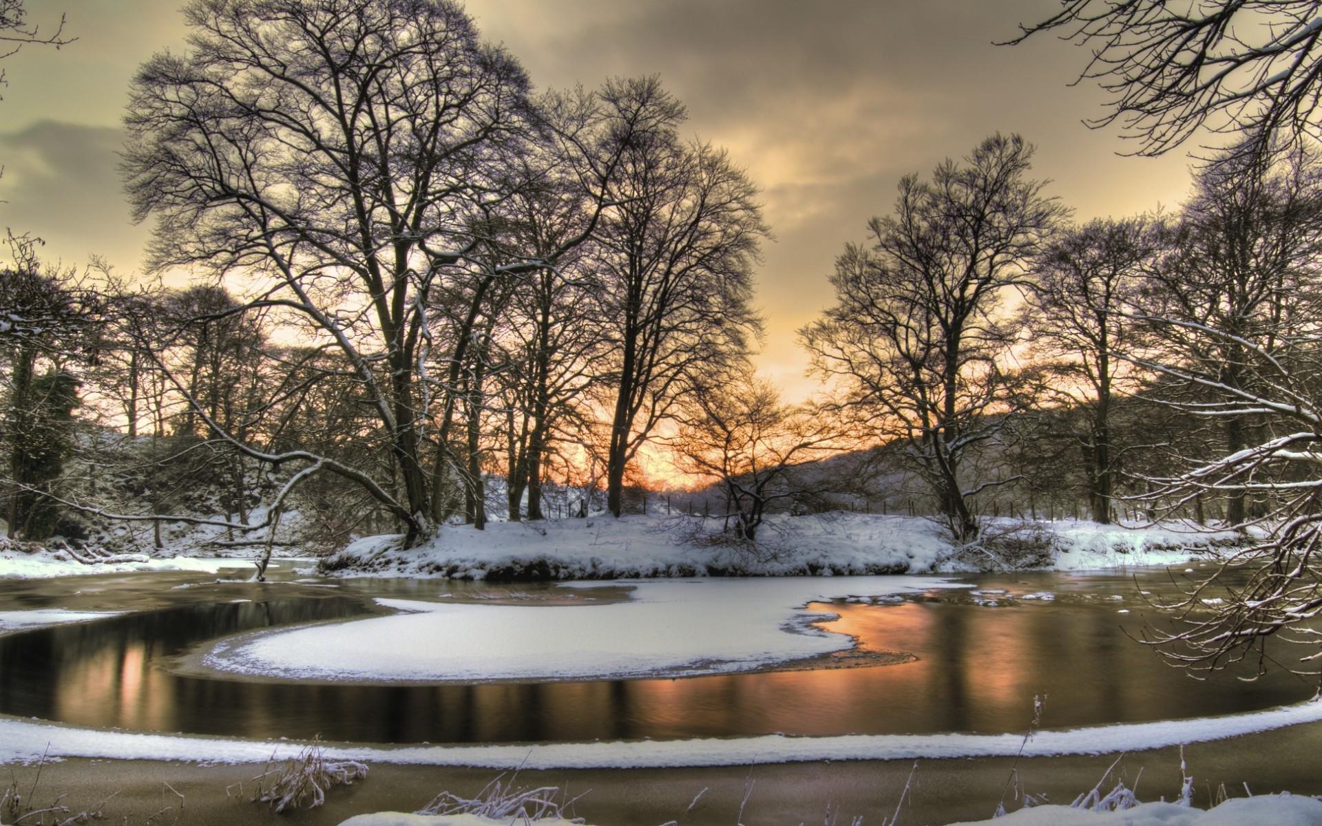 22418 скачать обои Пейзаж, Зима, Река, Деревья, Снег - заставки и картинки бесплатно