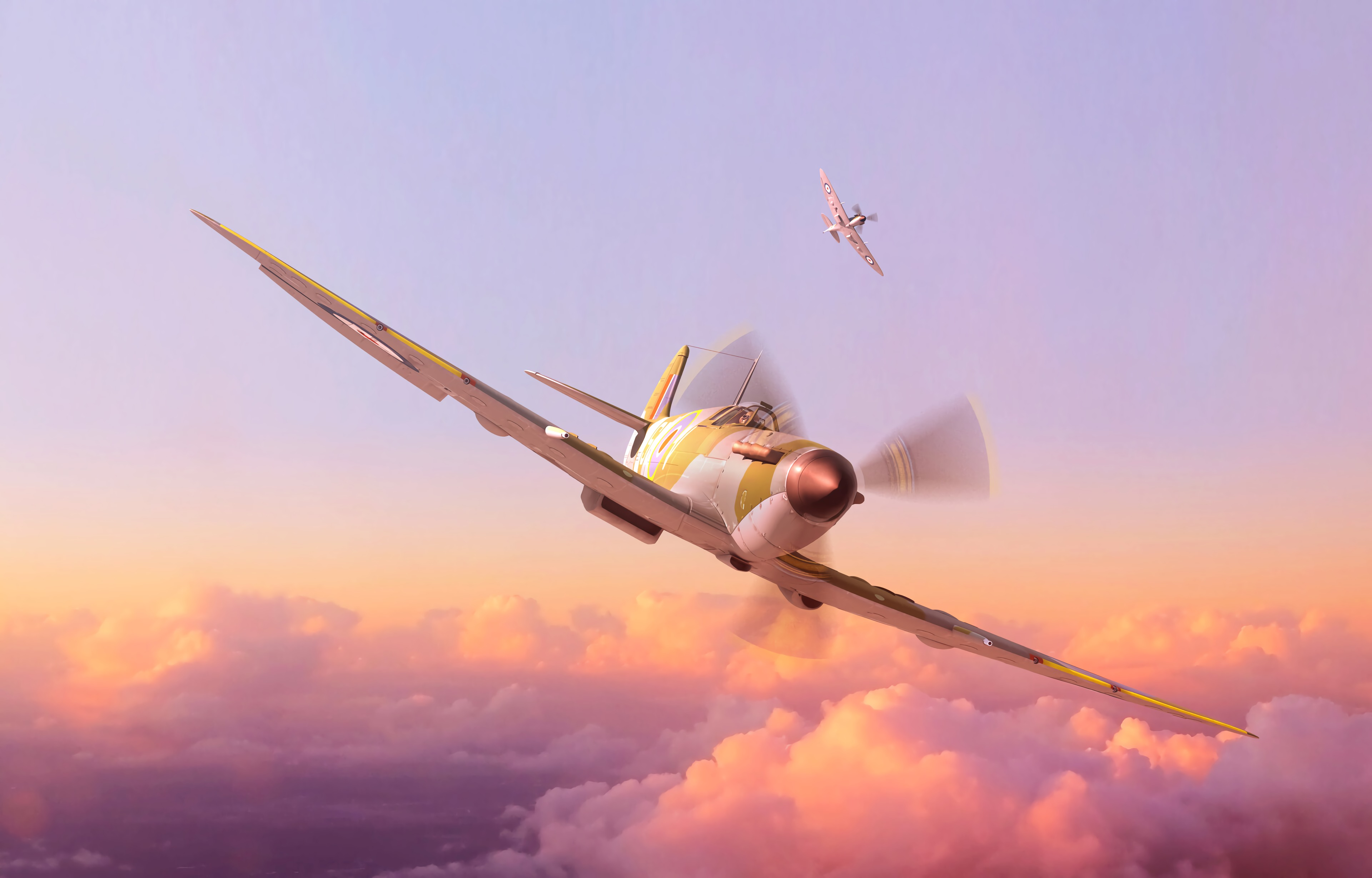80159 free wallpaper 1080x2400 for phone, download images Sky, Art, Miscellanea, Miscellaneous, Flight, Height, Plane, Airplane, Propeller 1080x2400 for mobile