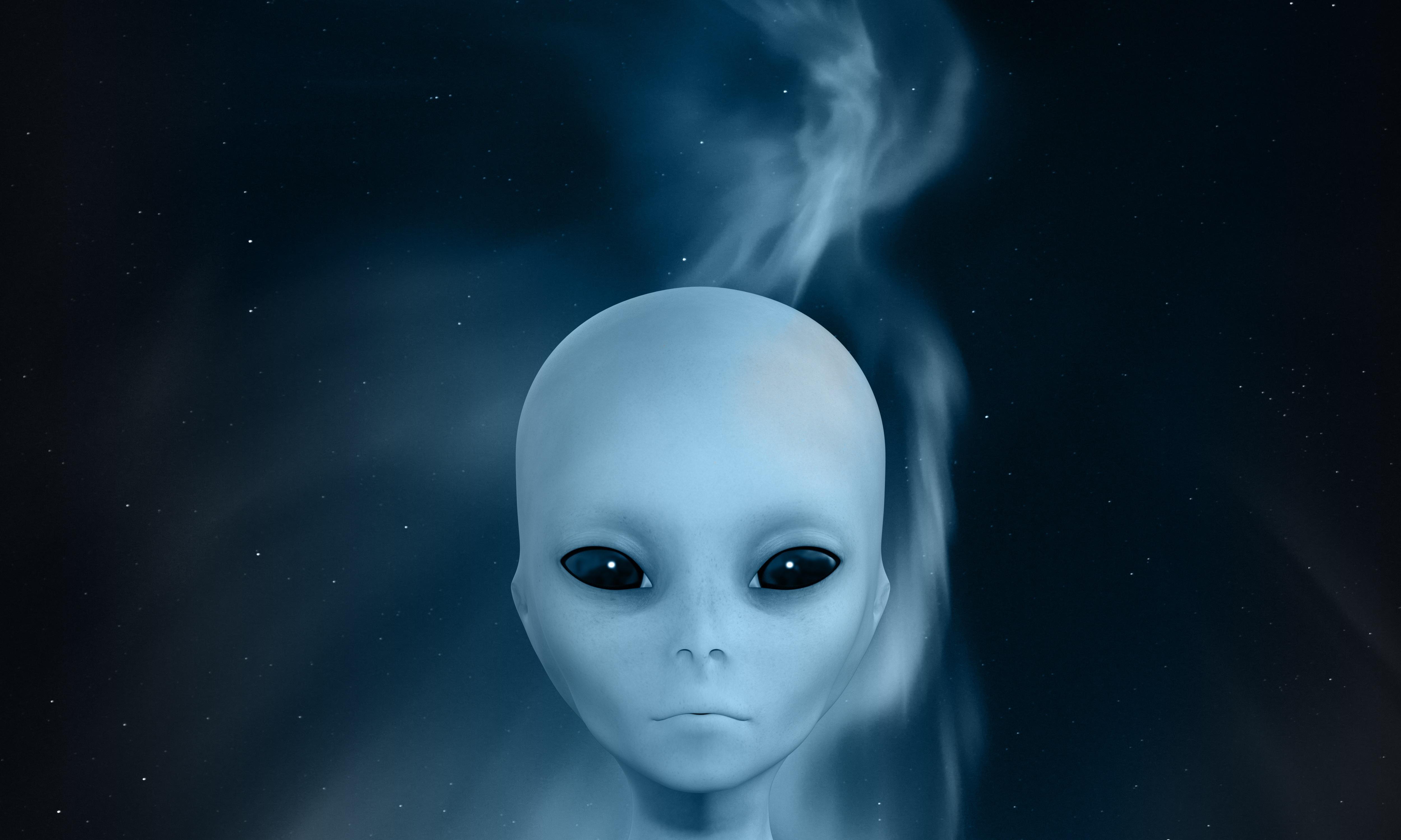 85535 baixar papel de parede Céu, Fumar, Alienígena, 3D, Cara, Rosto, Estranho, Estrangeiro - protetores de tela e imagens gratuitamente